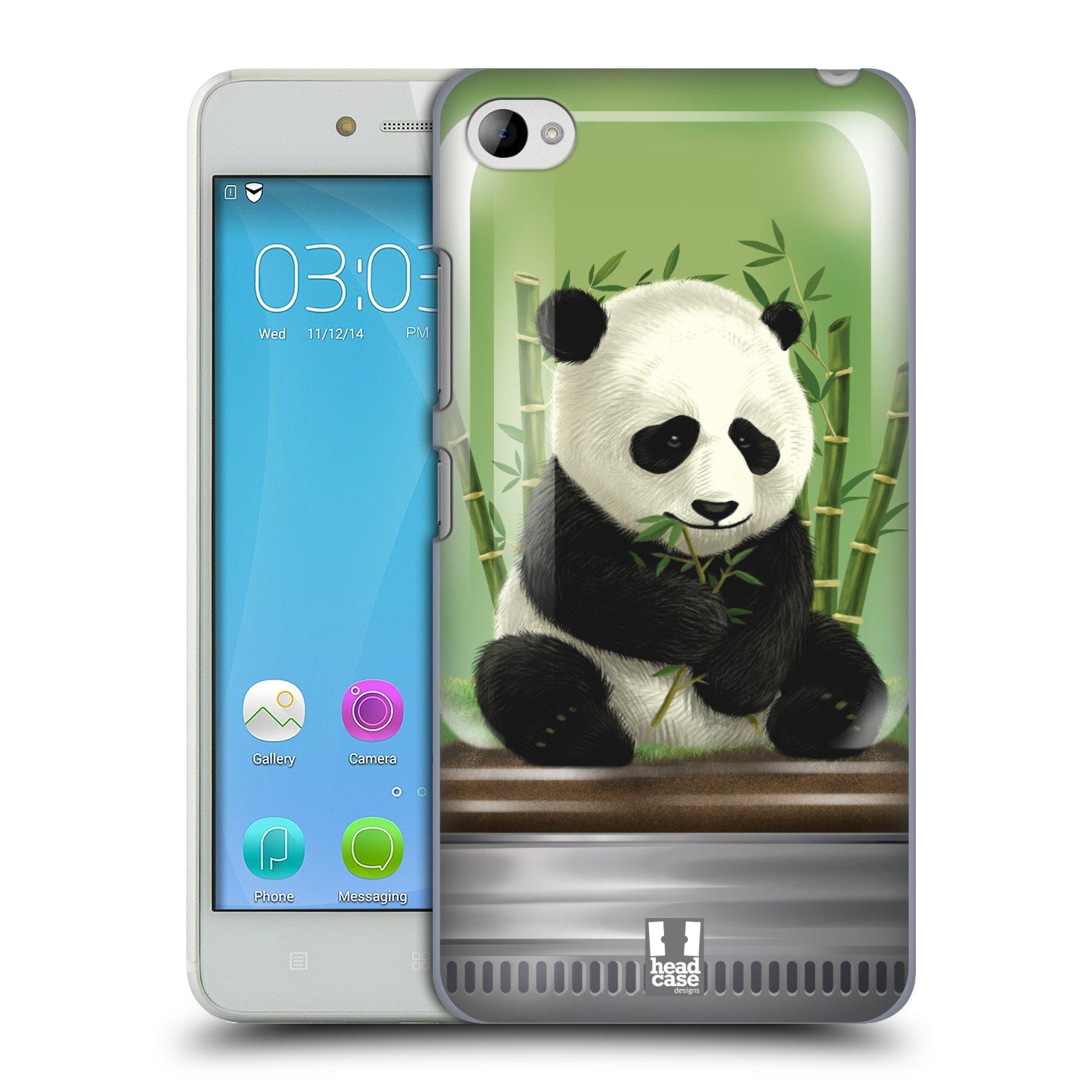 HEAD CASE pevný plastový obal na mobil LENOVO S90 vzor Zvířátka v těžítku panda