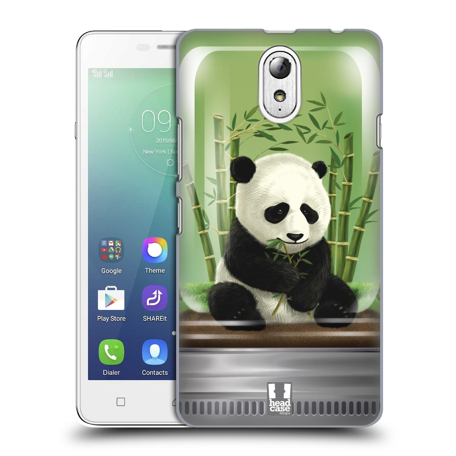 HEAD CASE pevný plastový obal na mobil LENOVO VIBE P1m / LENOVO VIBE p1m DUAL SIM vzor Zvířátka v těžítku panda