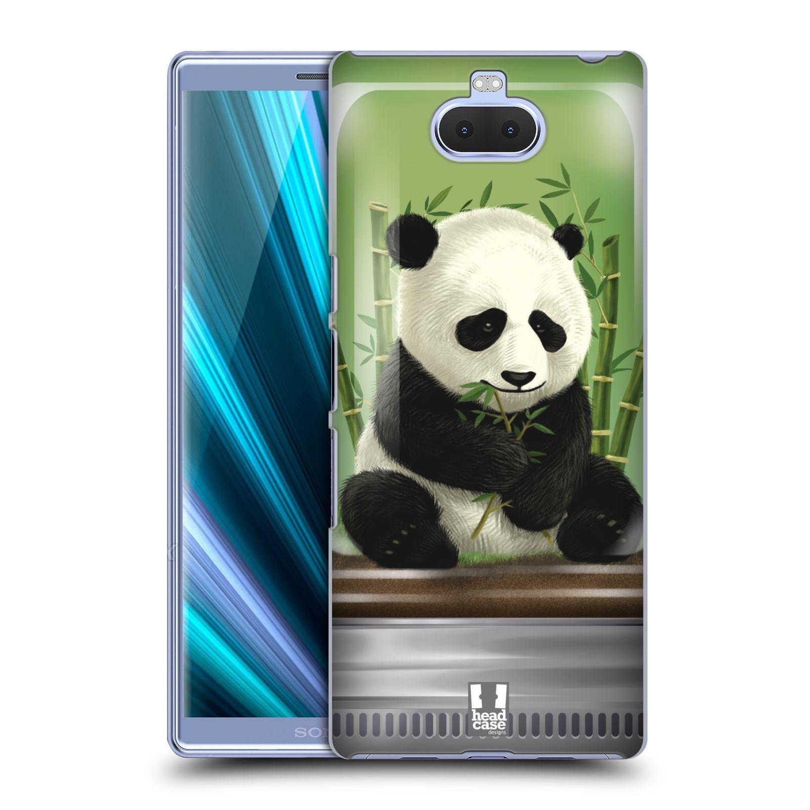 Pouzdro na mobil Sony Xperia 10 - Head Case - vzor Zvířátka v těžítku panda