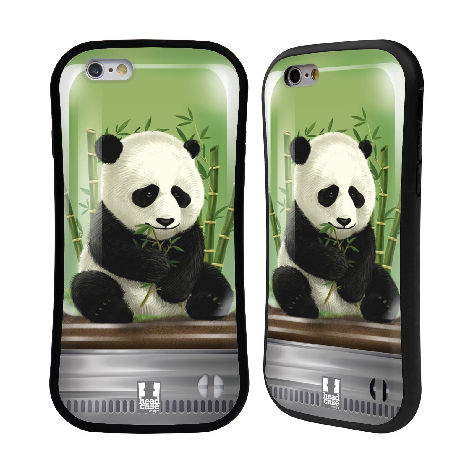 HEAD CASE silikon/plast odolný obal na mobil Apple Iphone 6/6S vzor Zvířátka v těžítku panda