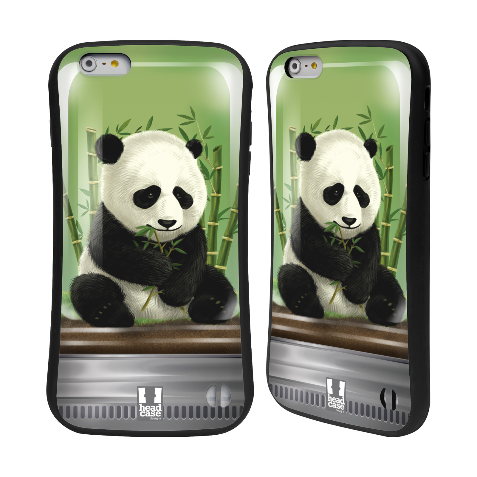 HEAD CASE silikon/plast odolný obal na mobil Apple Iphone 6 PLUS / 6S PLUS vzor Zvířátka v těžítku panda