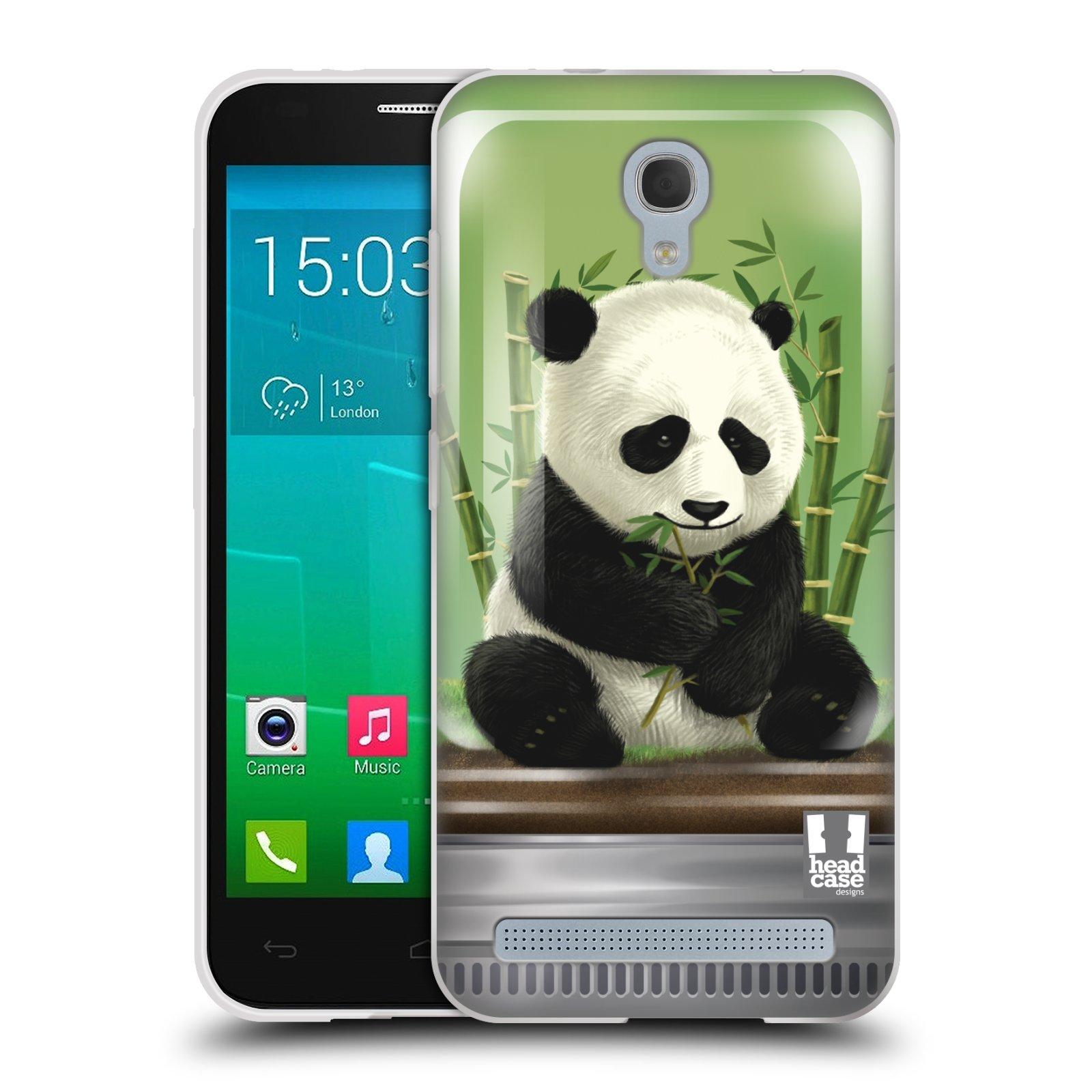 HEAD CASE silikonový obal na mobil Alcatel Idol 2 MINI S 6036Y vzor Zvířátka v těžítku panda