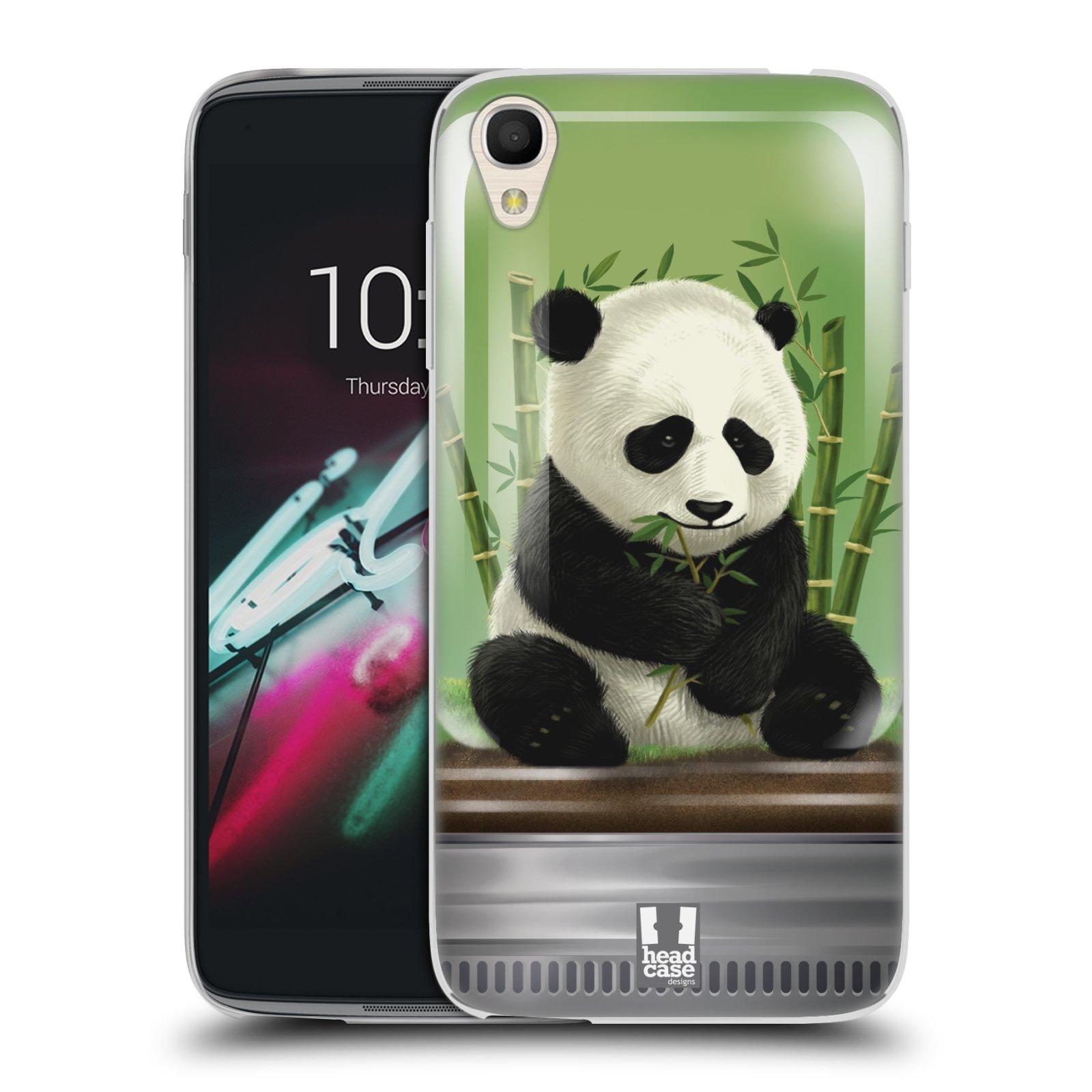 HEAD CASE silikonový obal na mobil Alcatel Idol 3 OT-6039Y (4.7) vzor Zvířátka v těžítku panda