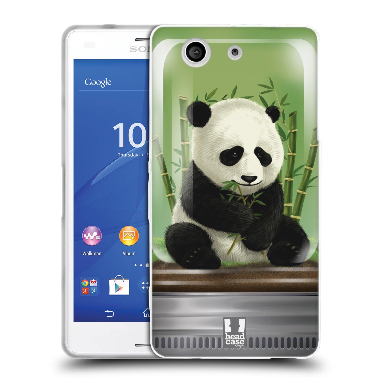 HEAD CASE silikonový obal na mobil Sony Xperia Z3 COMPACT (D5803) vzor Zvířátka v těžítku panda