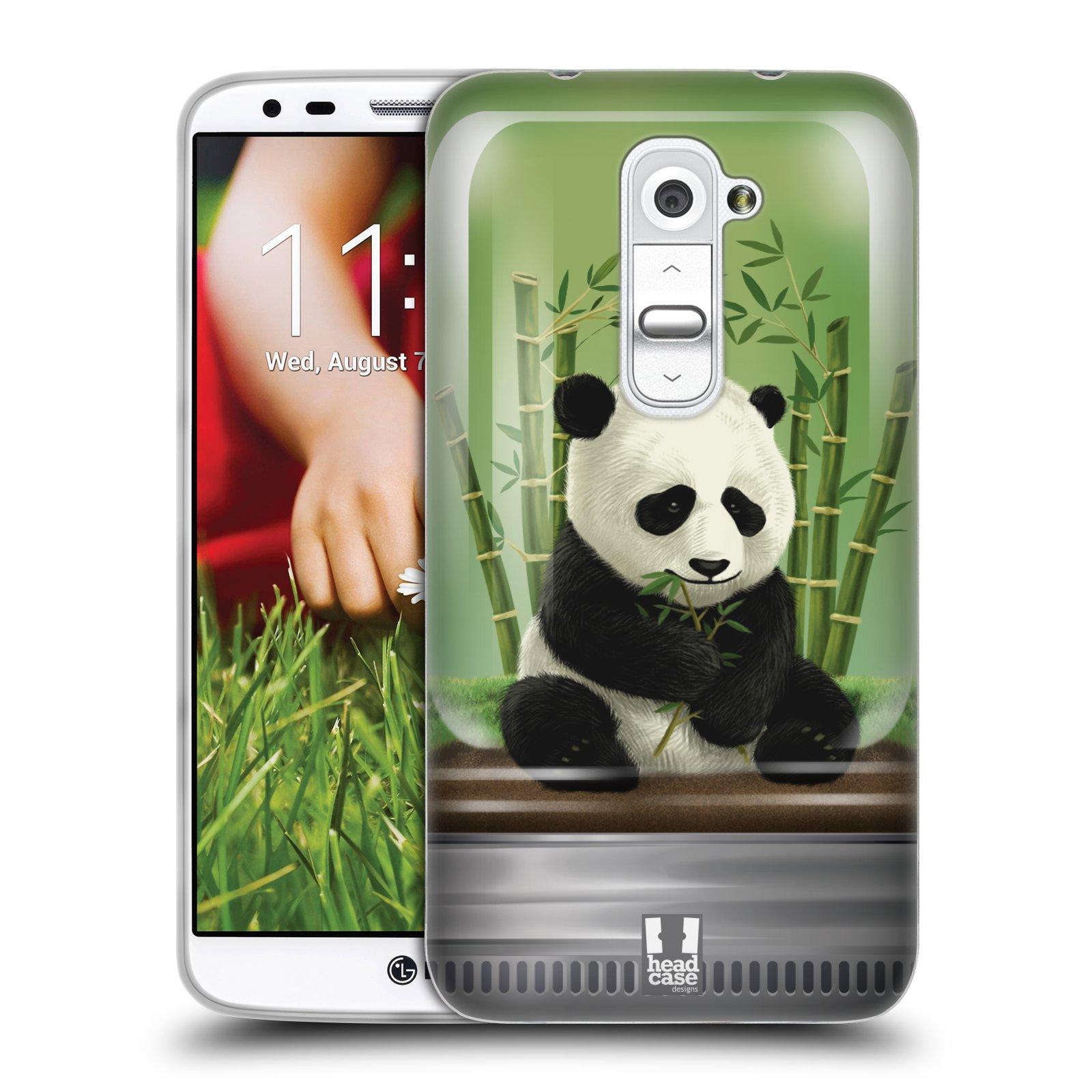 HEAD CASE silikonový obal na mobil LG G2 vzor Zvířátka v těžítku panda