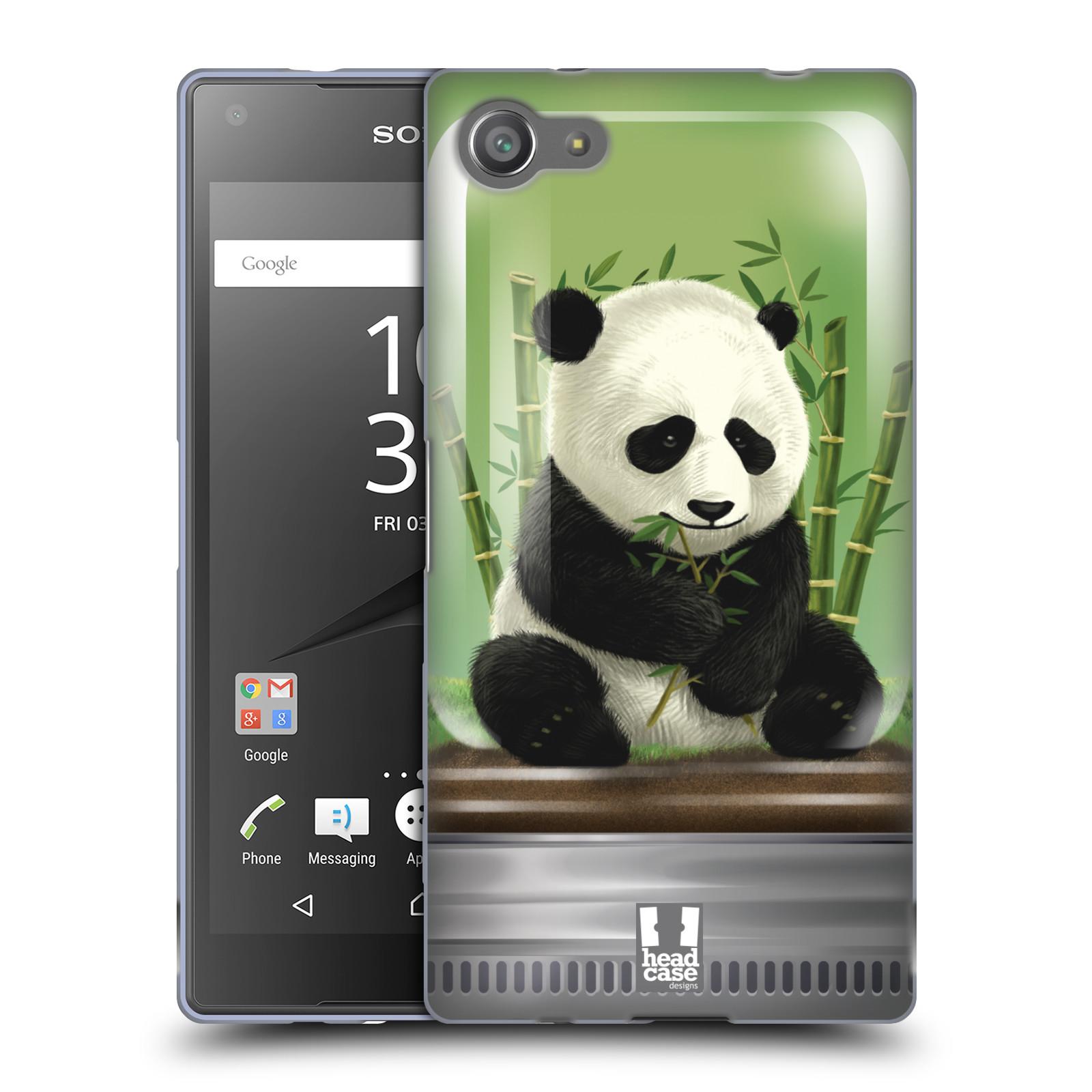 HEAD CASE silikonový obal na mobil Sony Xperia Z5 COMPACT vzor Zvířátka v těžítku panda