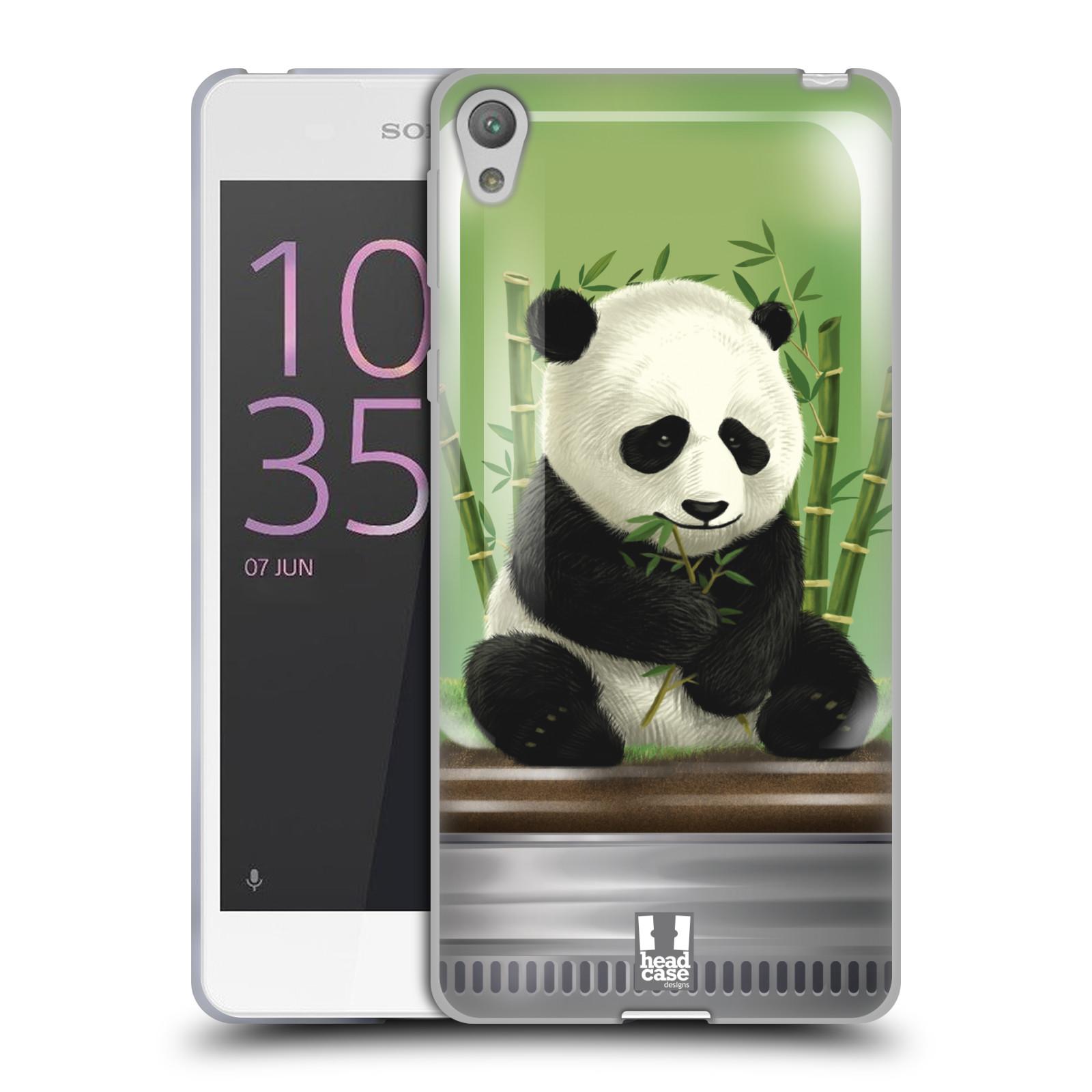HEAD CASE silikonový obal na mobil SONY XPERIA E5 vzor Zvířátka v těžítku panda