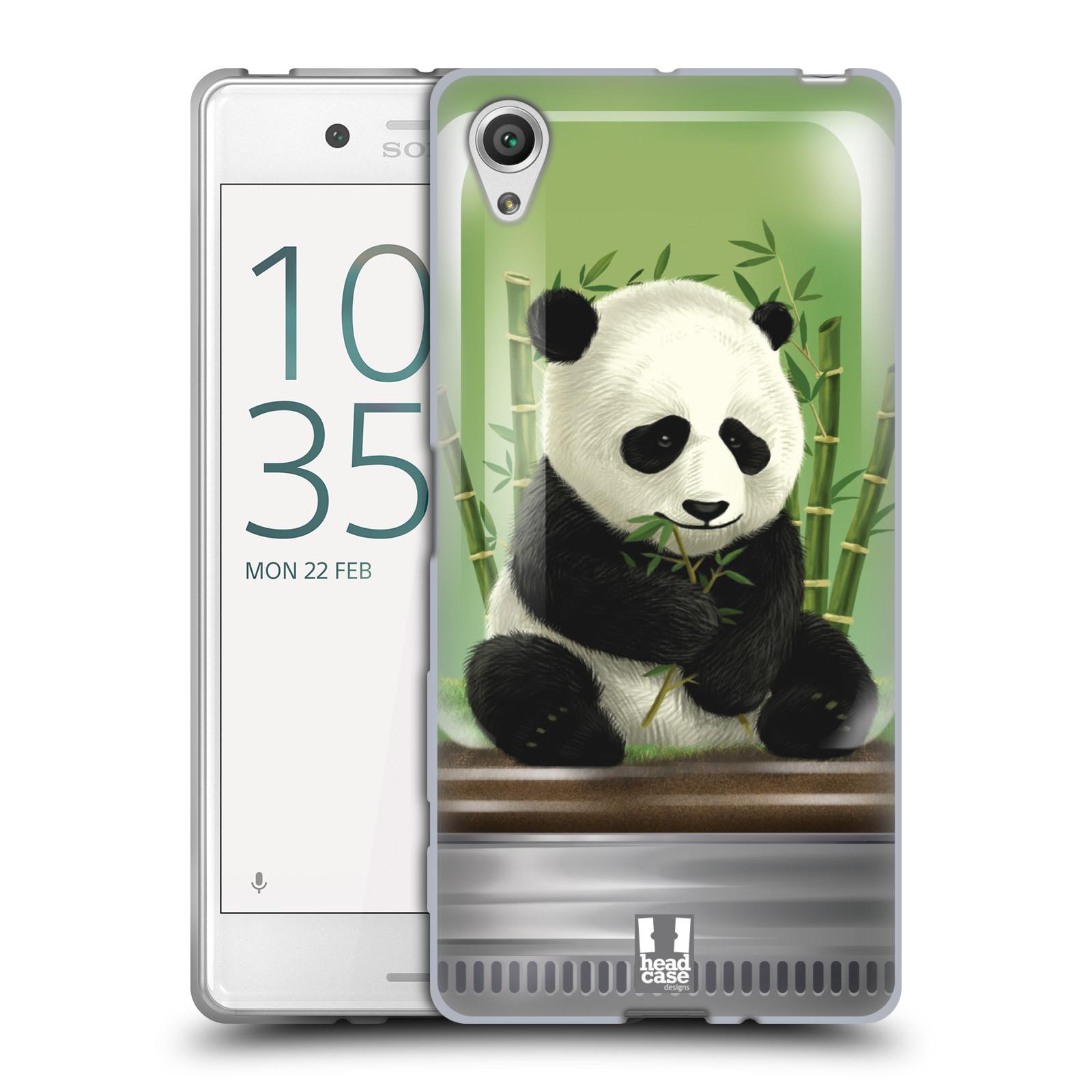 HEAD CASE silikonový obal na mobil Sony Xperia X / X DUAL vzor Zvířátka v těžítku panda