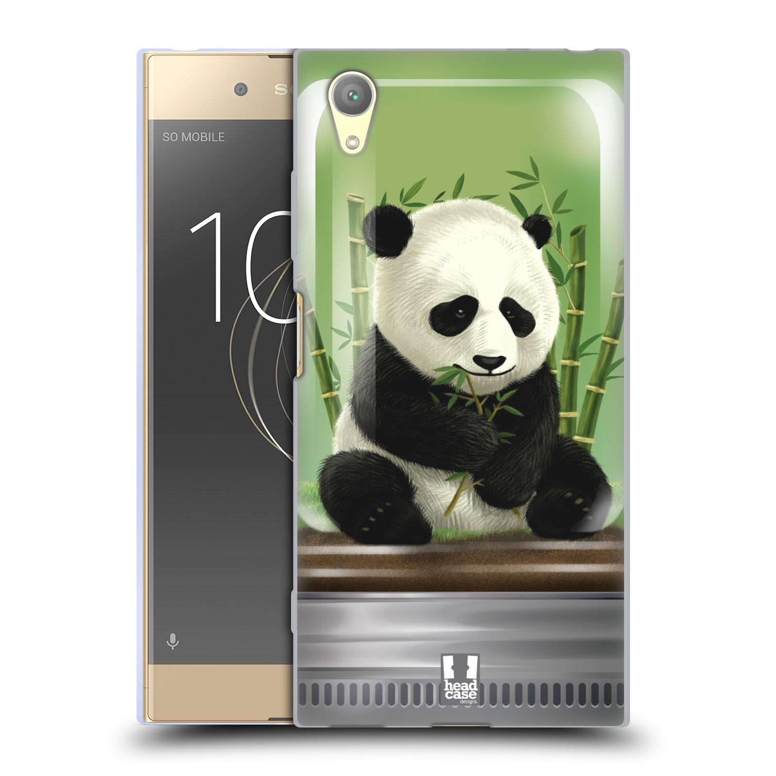 HEAD CASE silikonový obal na mobil Sony Xperia XA1 PLUS vzor Zvířátka v těžítku panda