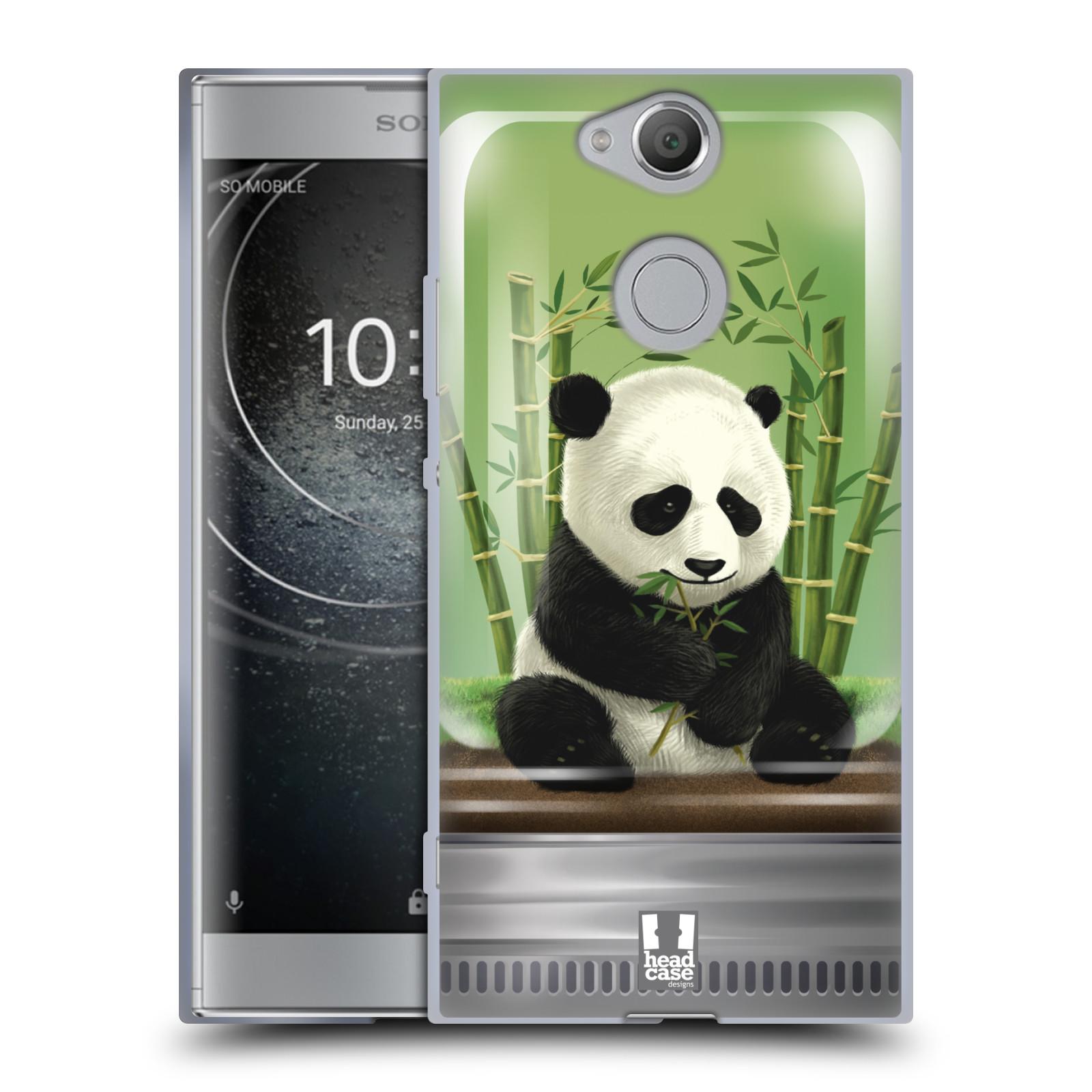 Pouzdro na mobil Sony Xperia XA2 (DUAL SIM, SINGLE SIM) vzor Zvířátka v těžítku panda