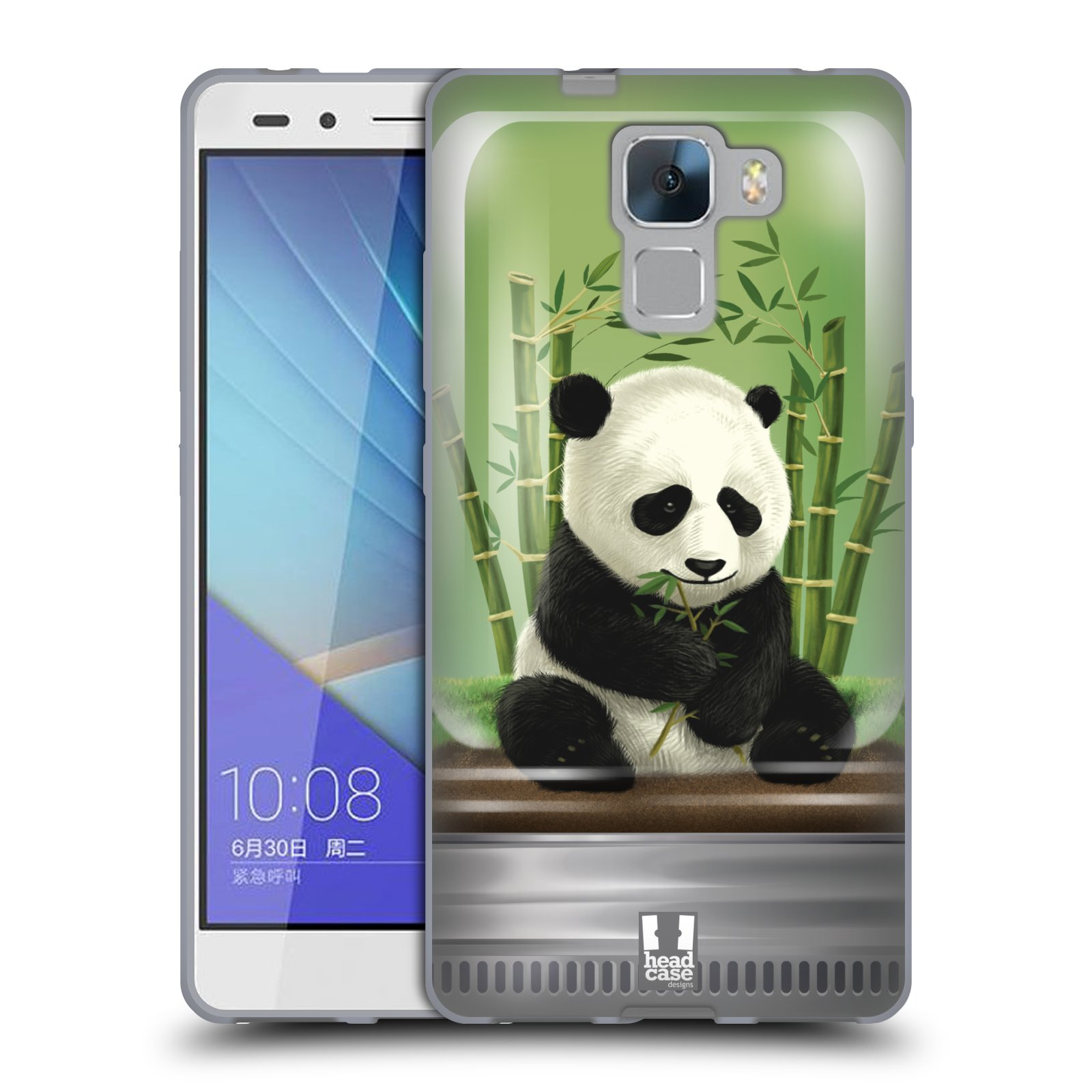 HEAD CASE silikonový obal na mobil HUAWEI HONOR 7 vzor Zvířátka v těžítku panda