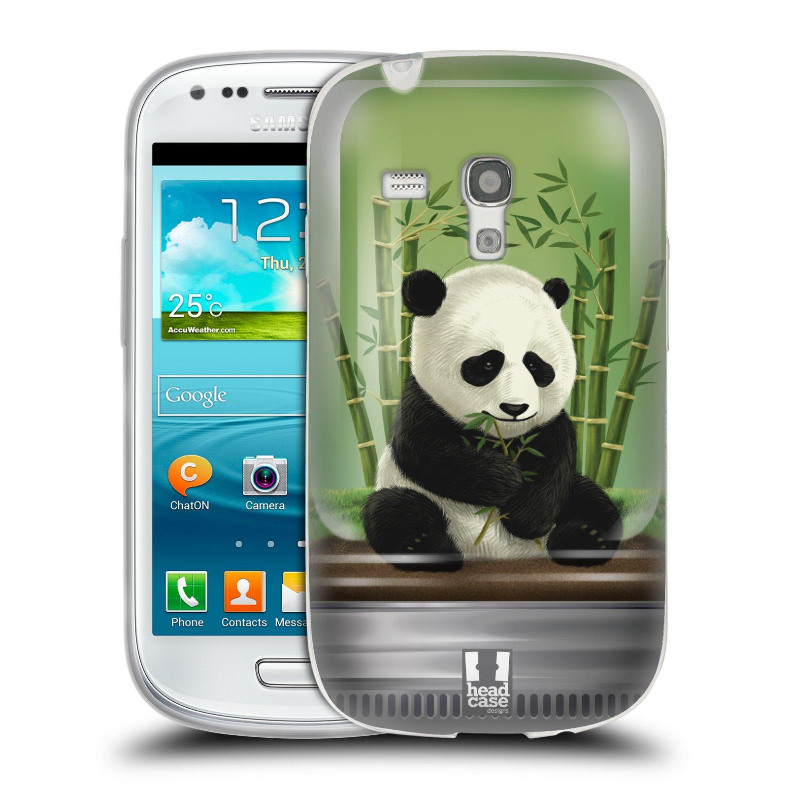 HEAD CASE silikonový obal na mobil Samsung Galaxy S3 MINI i8190 vzor Zvířátka v těžítku panda