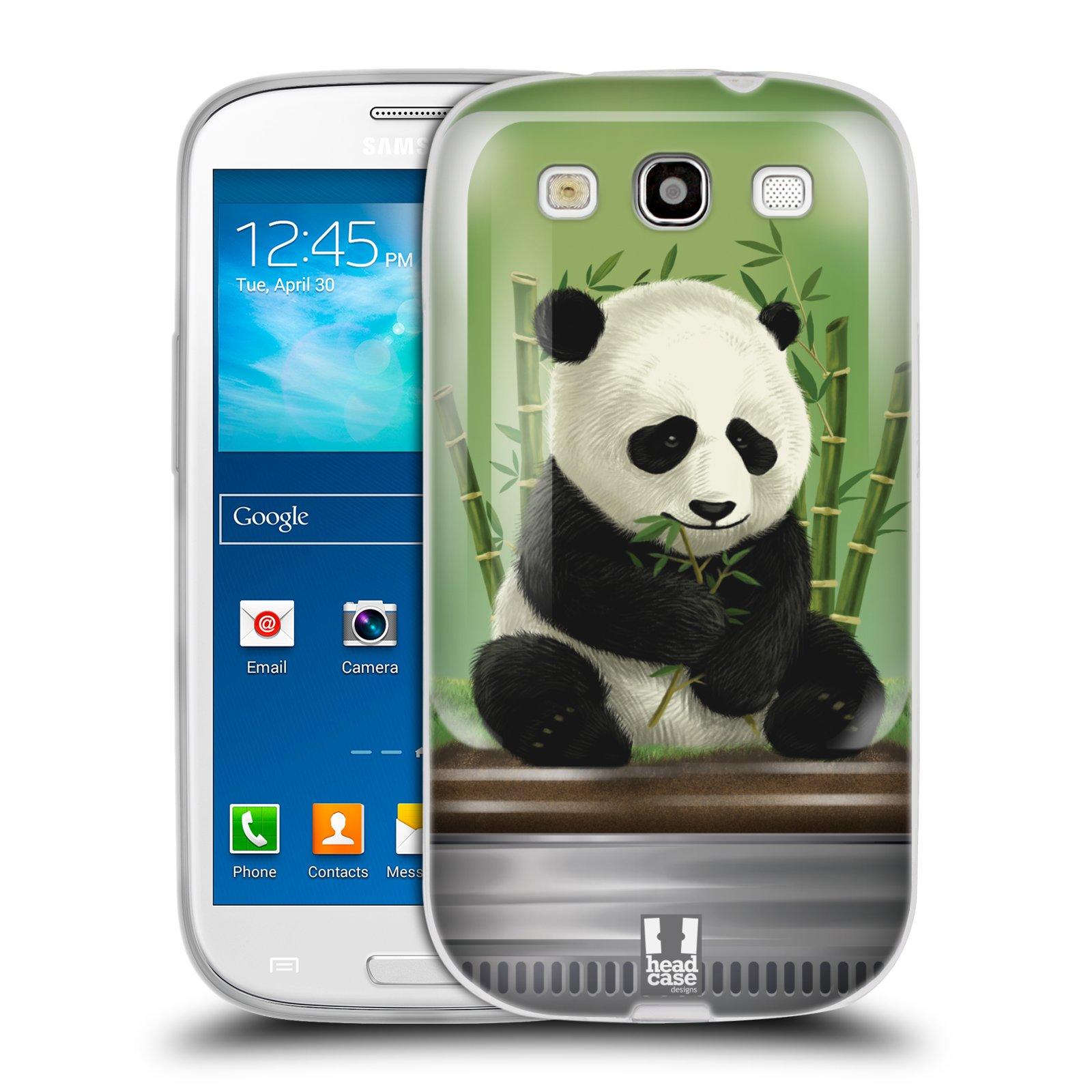 HEAD CASE silikonový obal na mobil Samsung Galaxy S3 i9300 vzor Zvířátka v těžítku panda