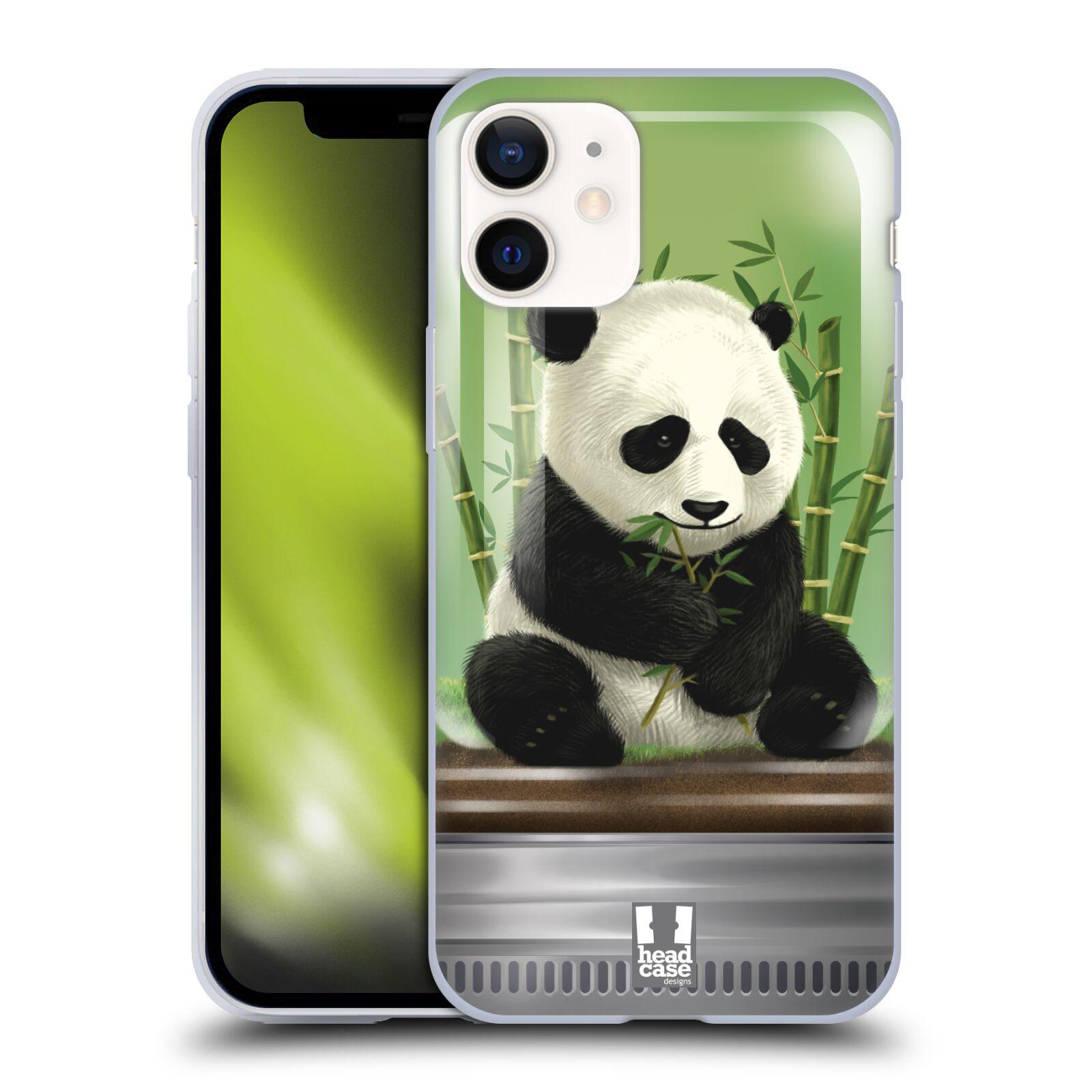 Plastový obal na mobil Apple Iphone 12 MINI vzor Zvířátka v těžítku panda