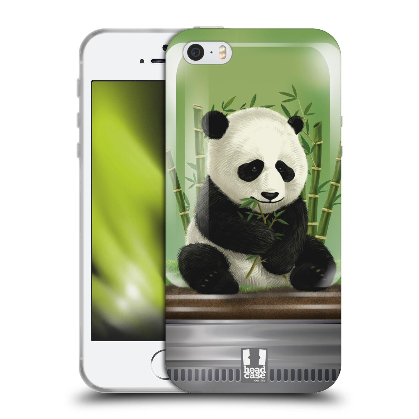 HEAD CASE silikonový obal na mobil Apple Iphone 5/5S vzor Zvířátka v těžítku panda