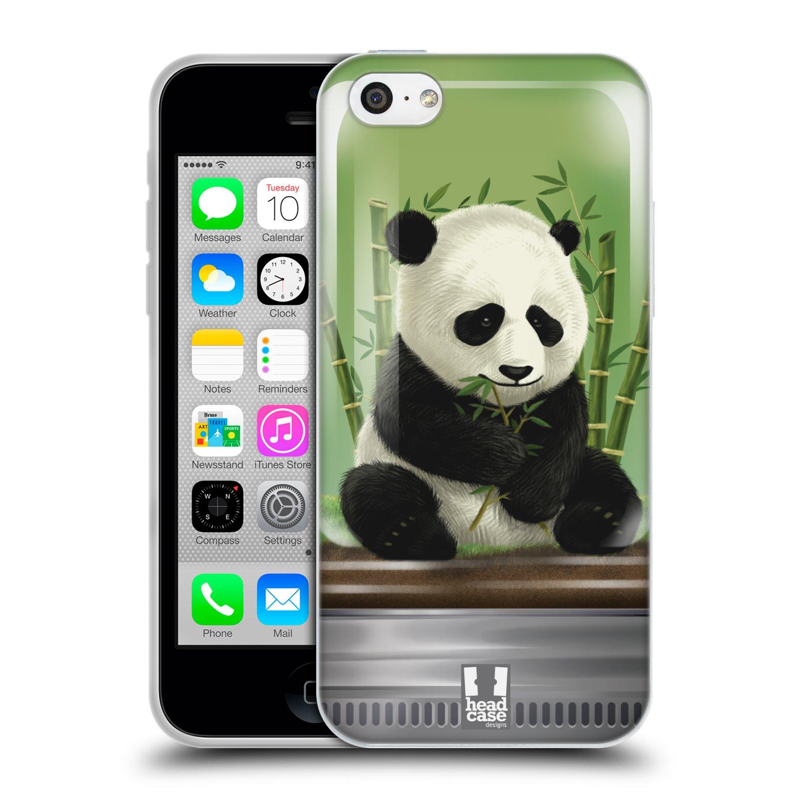 HEAD CASE silikonový obal na mobil Apple Iphone 5C vzor Zvířátka v těžítku panda