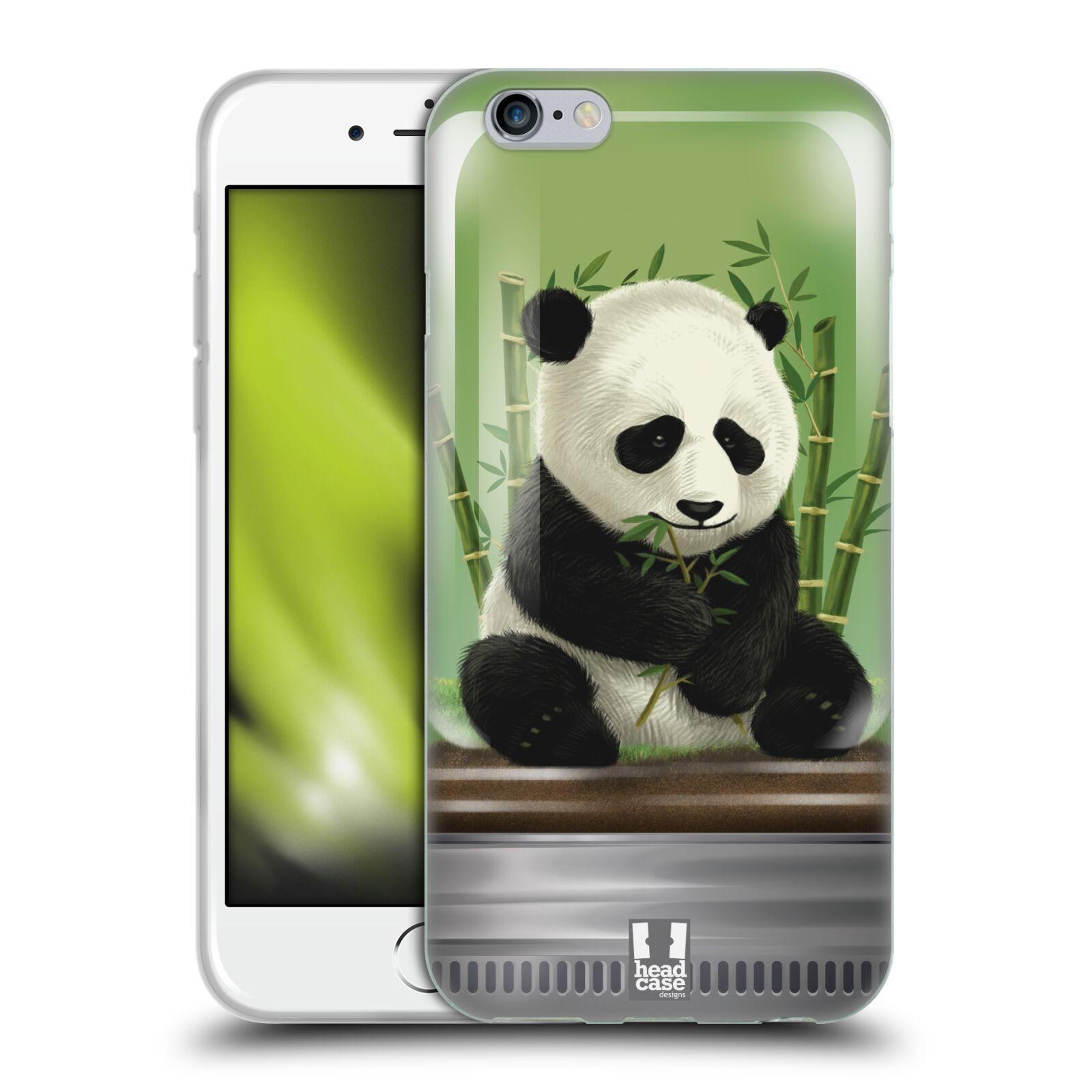 HEAD CASE silikonový obal na mobil Apple Iphone 6/6S vzor Zvířátka v těžítku panda
