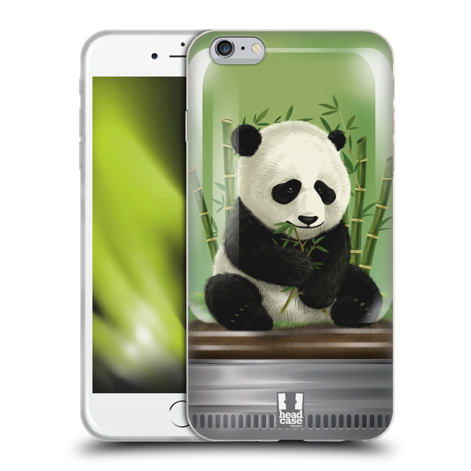 HEAD CASE silikonový obal na mobil Apple Iphone 6 PLUS/ 6S PLUS vzor Zvířátka v těžítku panda