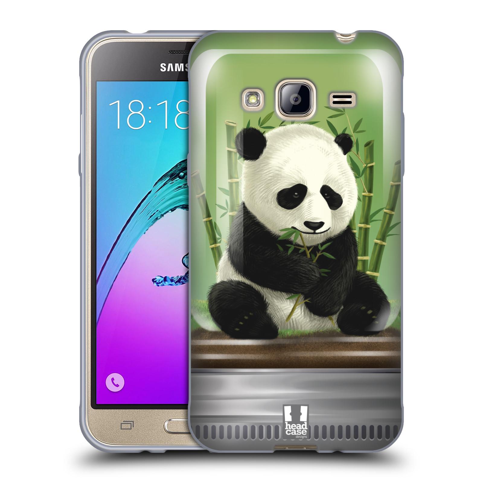 HEAD CASE silikonový obal na mobil Samsung Galaxy J3, J3 2016 vzor Zvířátka v těžítku panda