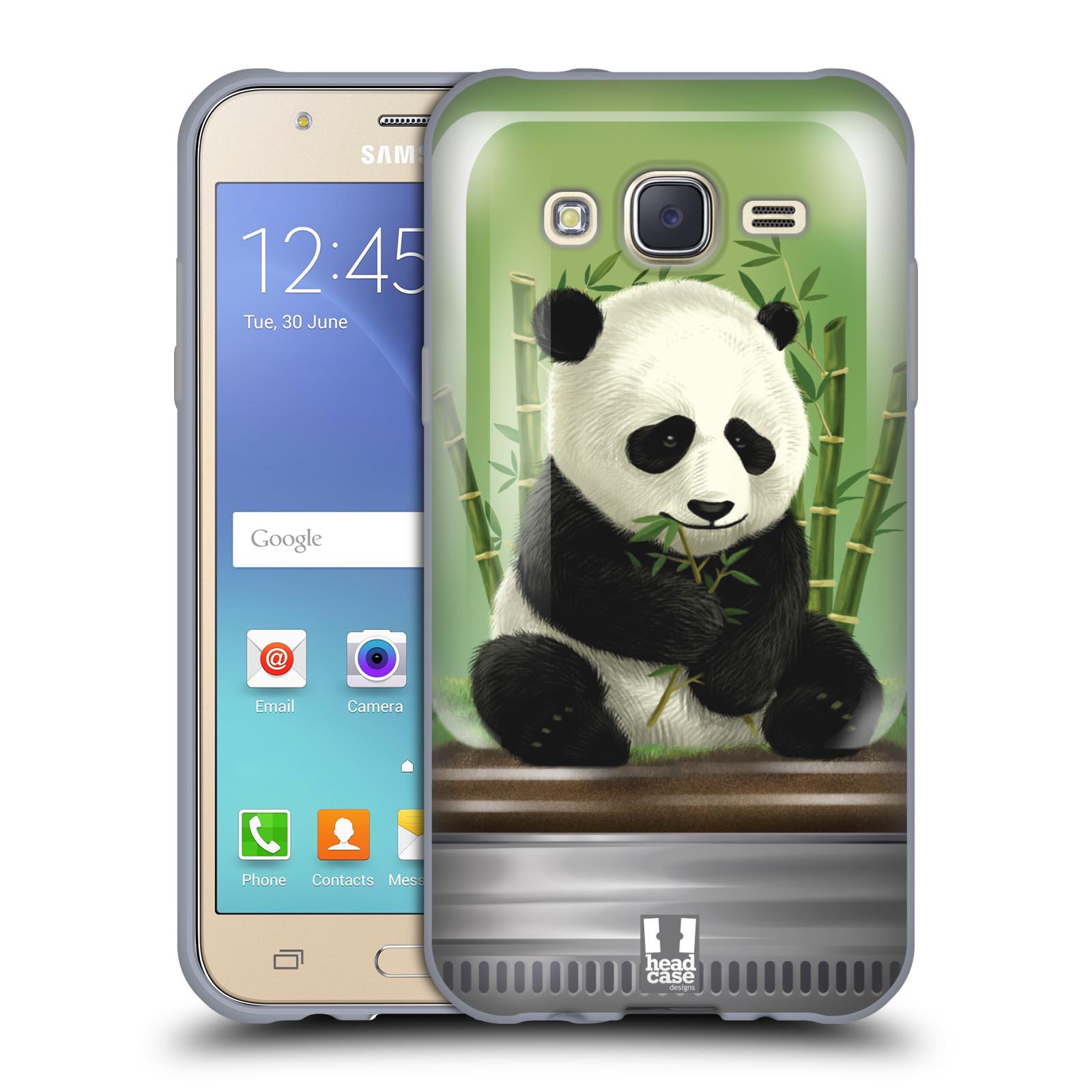 HEAD CASE silikonový obal na mobil Samsung Galaxy J5, J500, (J5 DUOS) vzor Zvířátka v těžítku panda