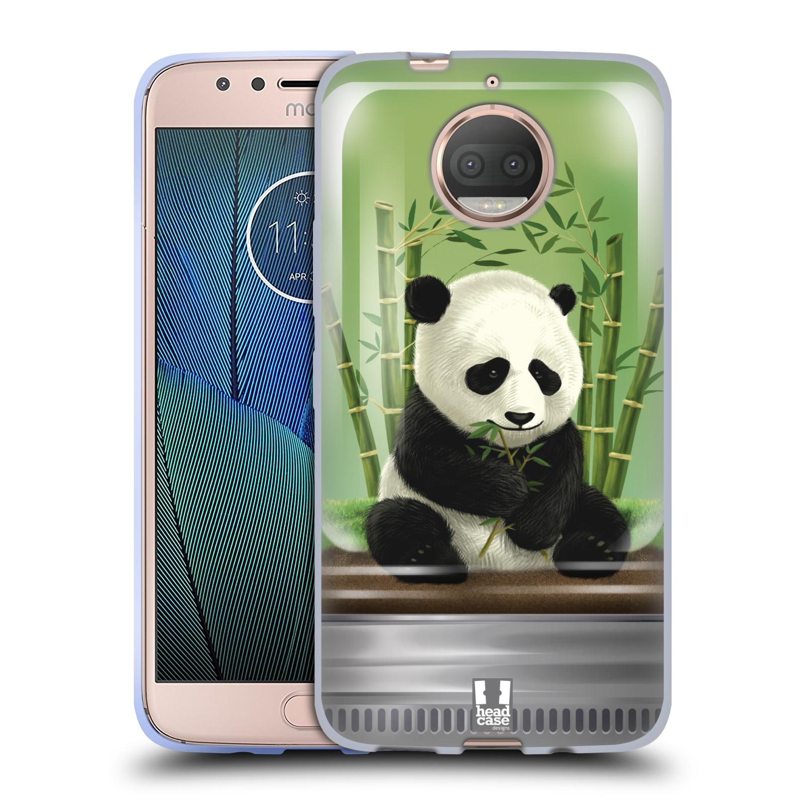 HEAD CASE silikonový obal na mobil Lenovo Moto G5s PLUS vzor Zvířátka v těžítku panda