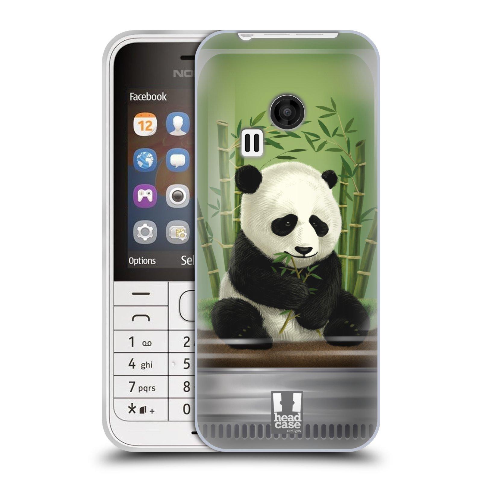 HEAD CASE silikonový obal na mobil NOKIA 220 / NOKIA 220 DUAL SIM vzor Zvířátka v těžítku panda