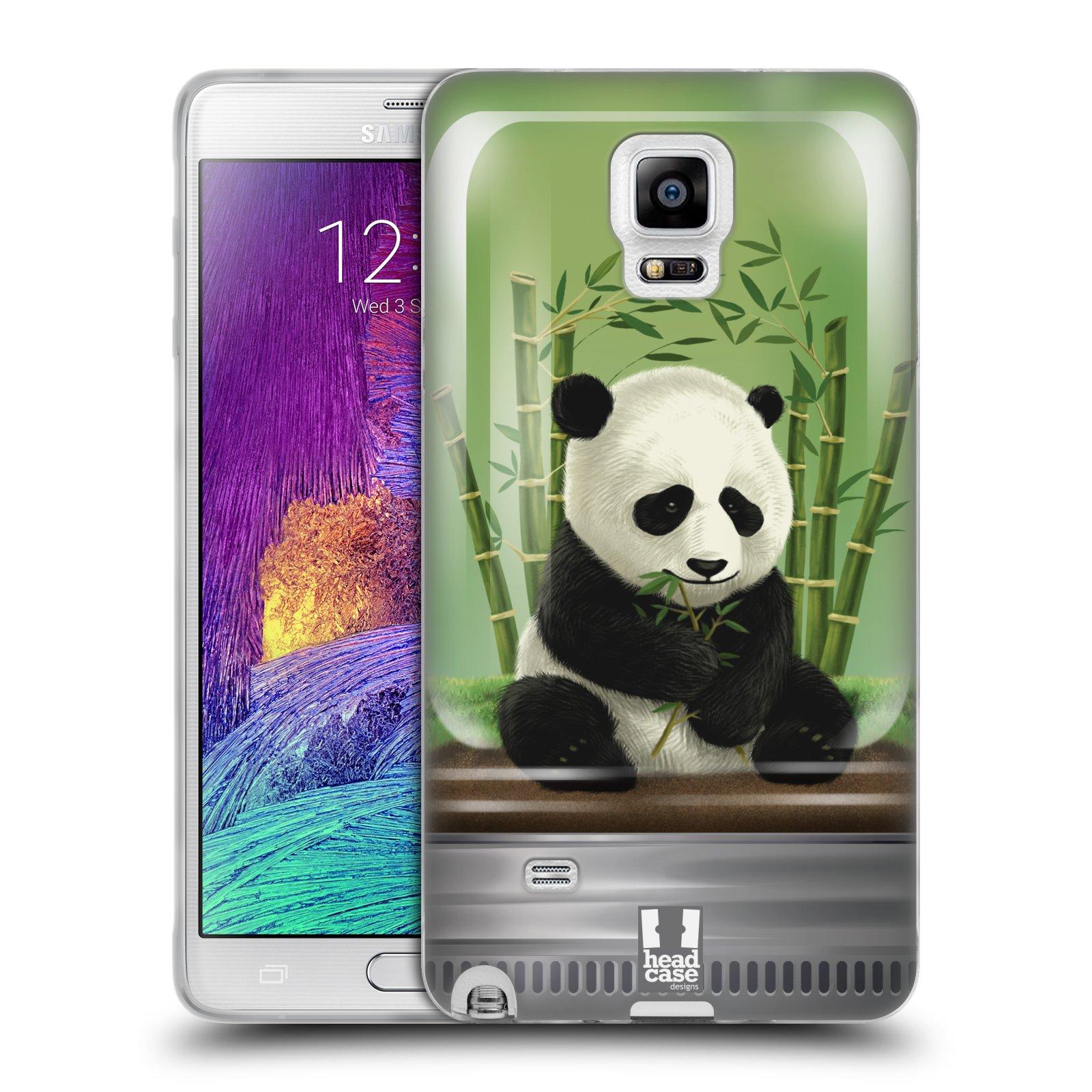 HEAD CASE silikonový obal na mobil Samsung Galaxy Note 4 (N910) vzor Zvířátka v těžítku panda