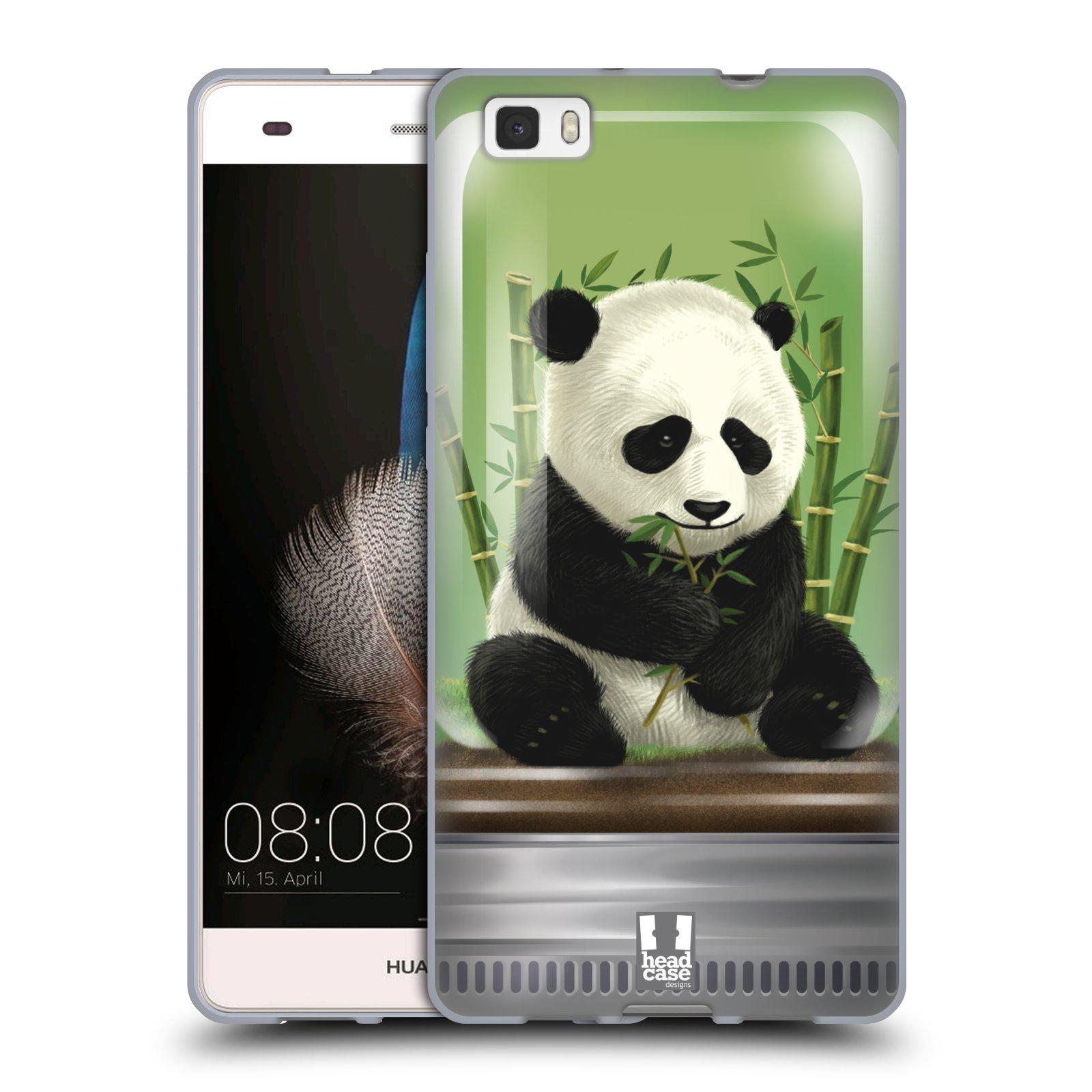HEAD CASE silikonový obal na mobil HUAWEI P8 LITE vzor Zvířátka v těžítku panda