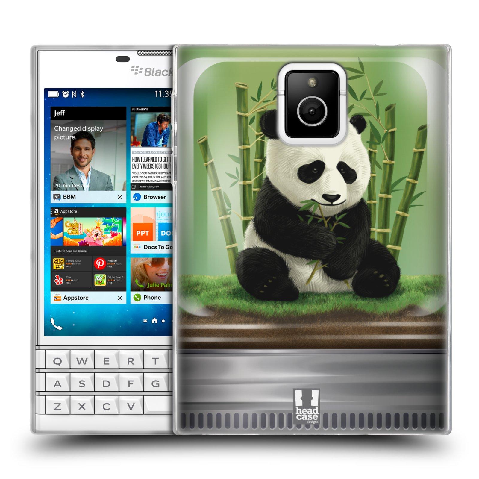HEAD CASE silikonový obal na mobil Blackberry PASSPORT vzor Zvířátka v těžítku panda