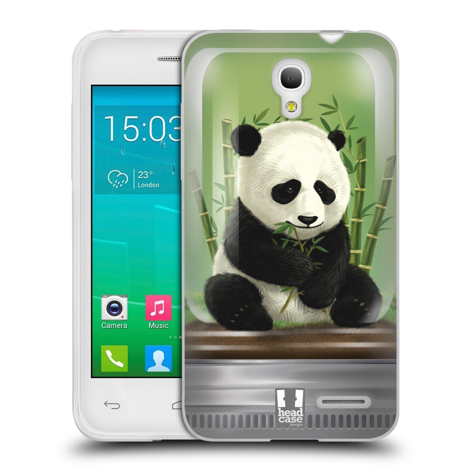 HEAD CASE silikonový obal na mobil Alcatel POP S3 OT-5050Y vzor Zvířátka v těžítku panda
