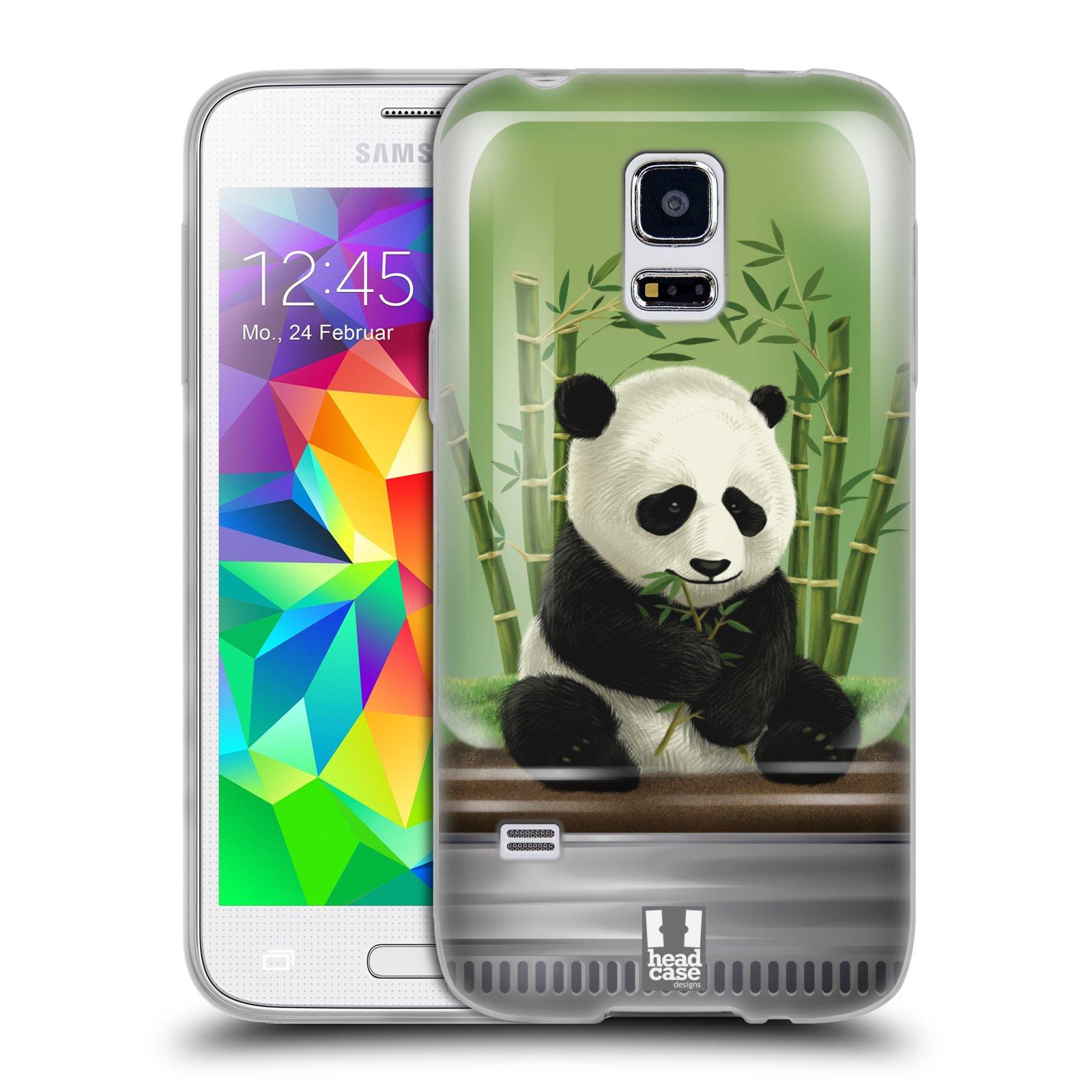 HEAD CASE silikonový obal na mobil Samsung Galaxy S5 MINI vzor Zvířátka v těžítku panda