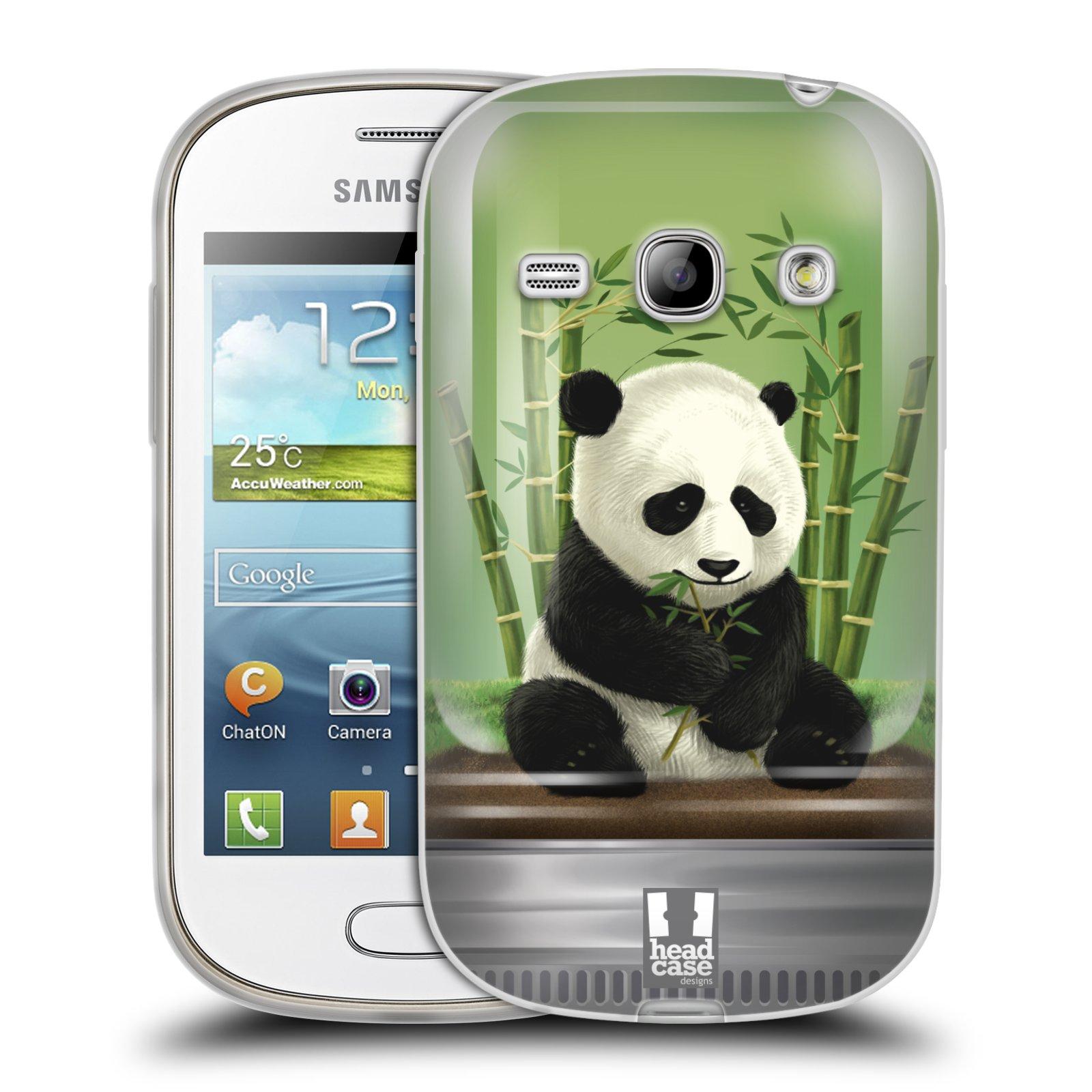 HEAD CASE silikonový obal na mobil Samsung Galaxy FAME vzor Zvířátka v těžítku panda