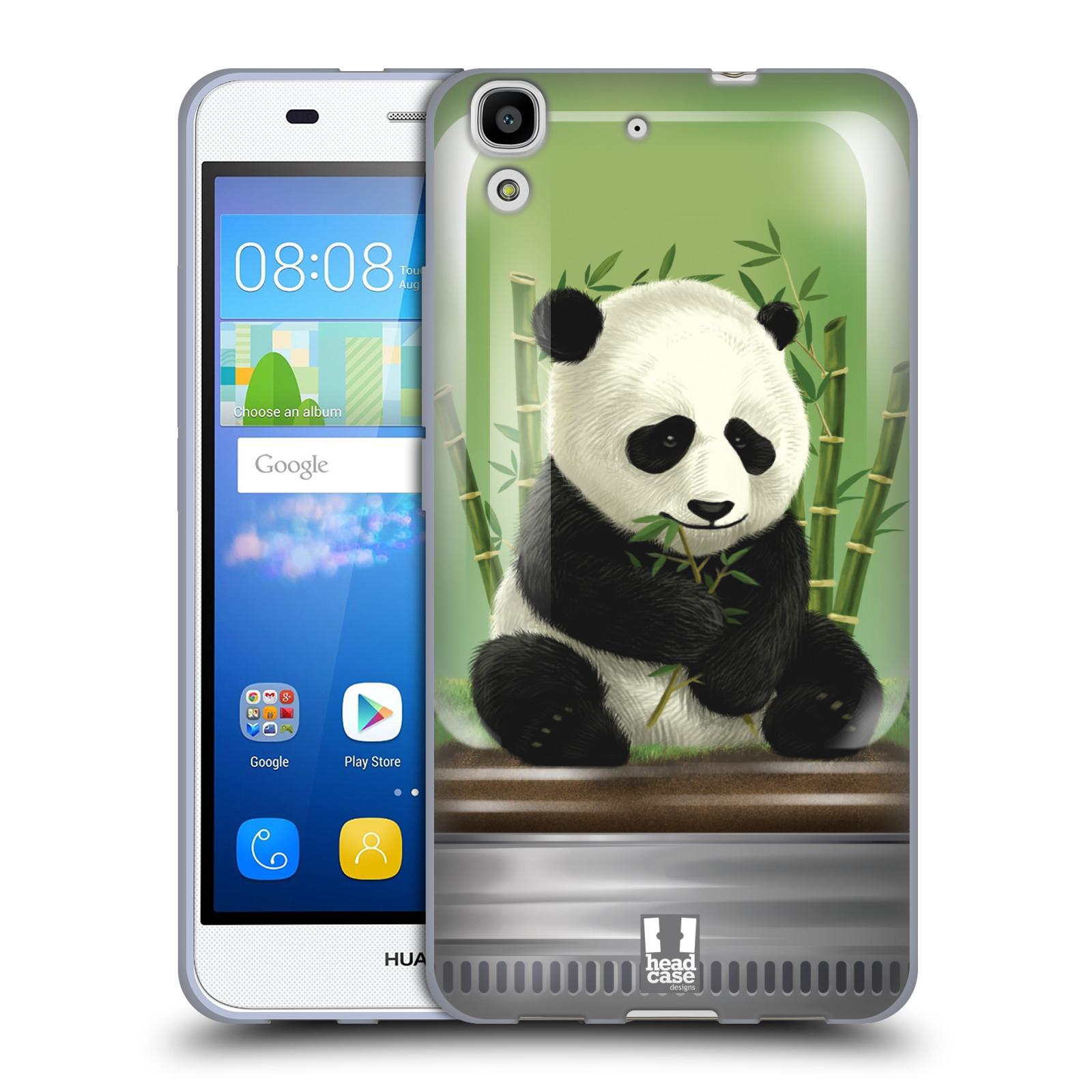 HEAD CASE silikonový obal na mobil HUAWEI Y6 vzor Zvířátka v těžítku panda