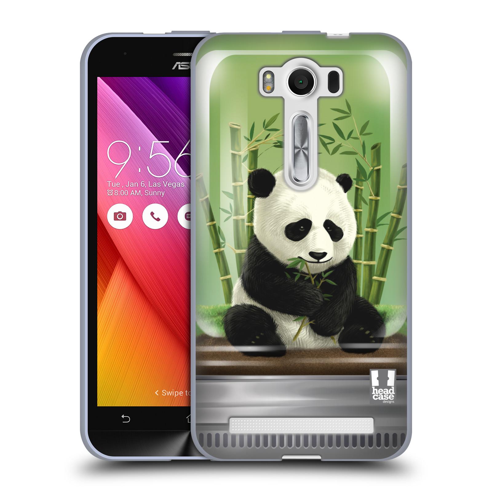 """HEAD CASE silikonový obal na mobil Asus Zenfone 2 LASER (ZE500KL s 5"""" displejem) vzor Zvířátka v těžítku panda"""