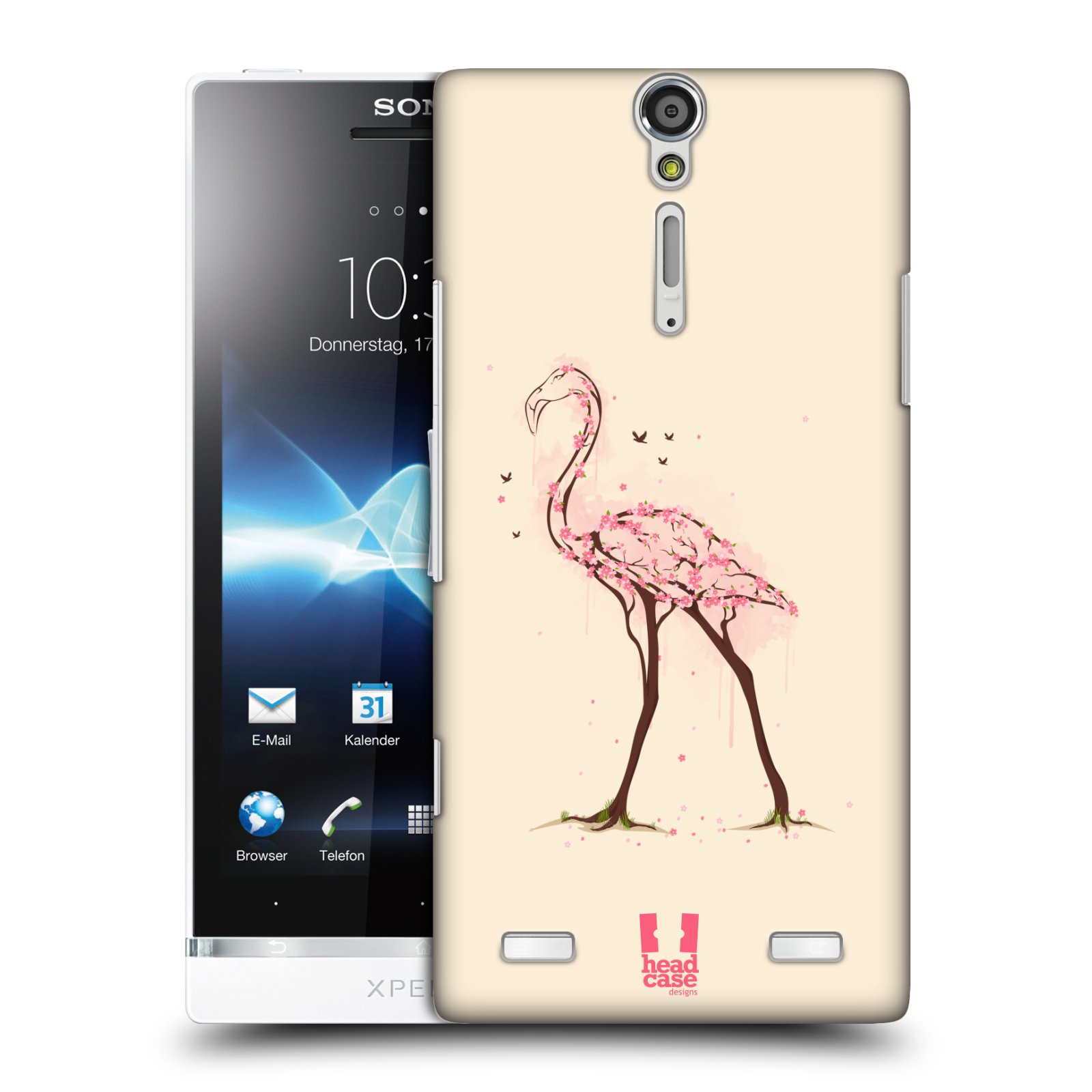 HEAD CASE DESIGNS WILDLIFE IN BLOOM HARD BACK CASE FOR SONY XPERIA S LT26i