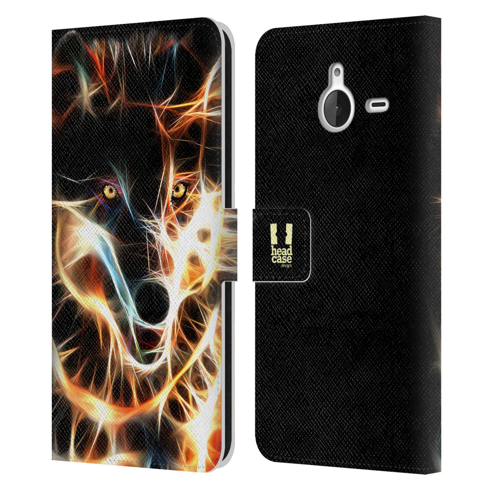 Pouzdro na mobil Nokia Lumia 640 XL - Head Case - Ohnivý vlk