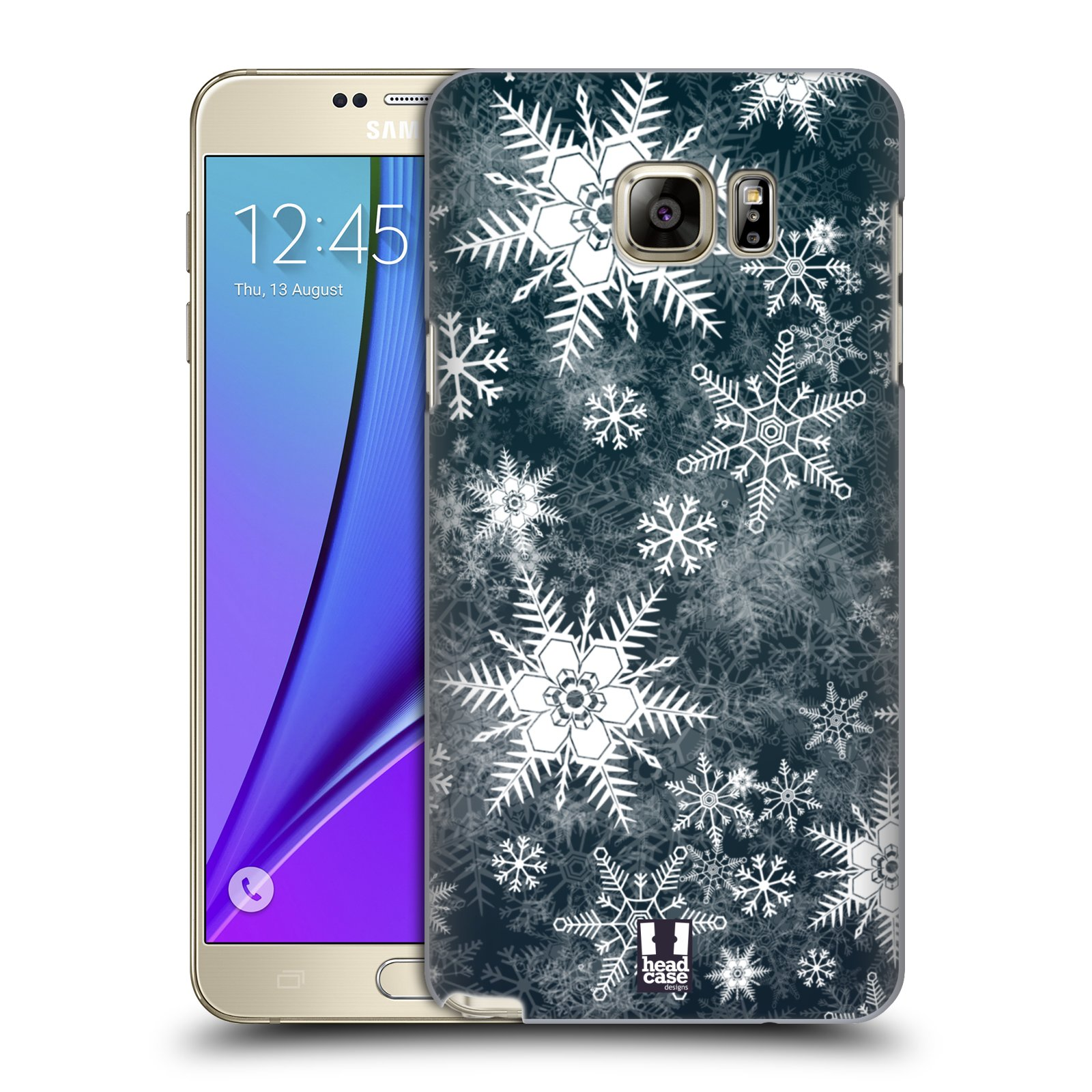 HEAD CASE DESIGNS WINTER PRINTS HARD BACK CASE FOR SAMSUNG GALAXY NOTE 5