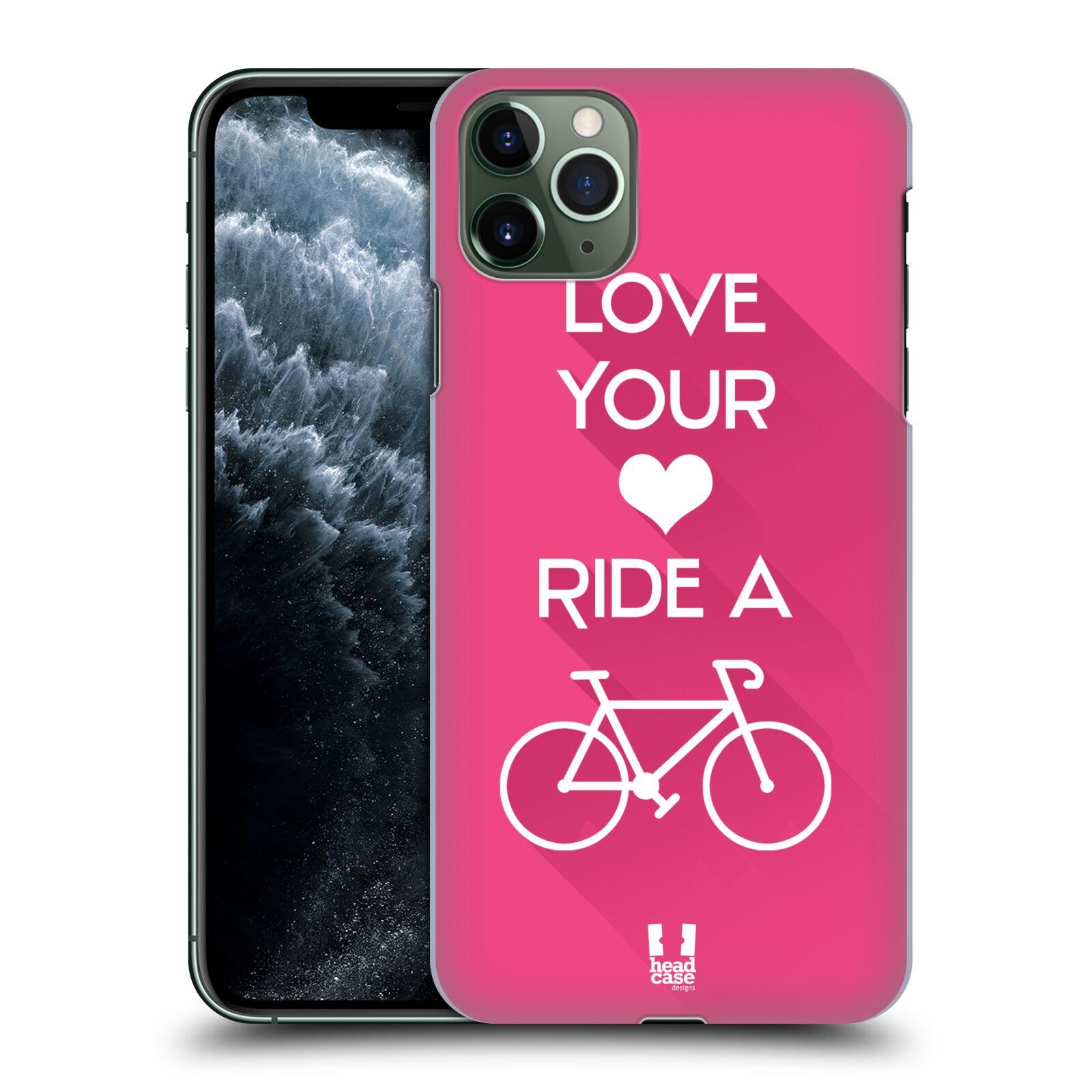 Pouzdro na mobil Apple Iphone 11 PRO MAX - HEAD CASE - Cyklista růžové pozadí kolo sport