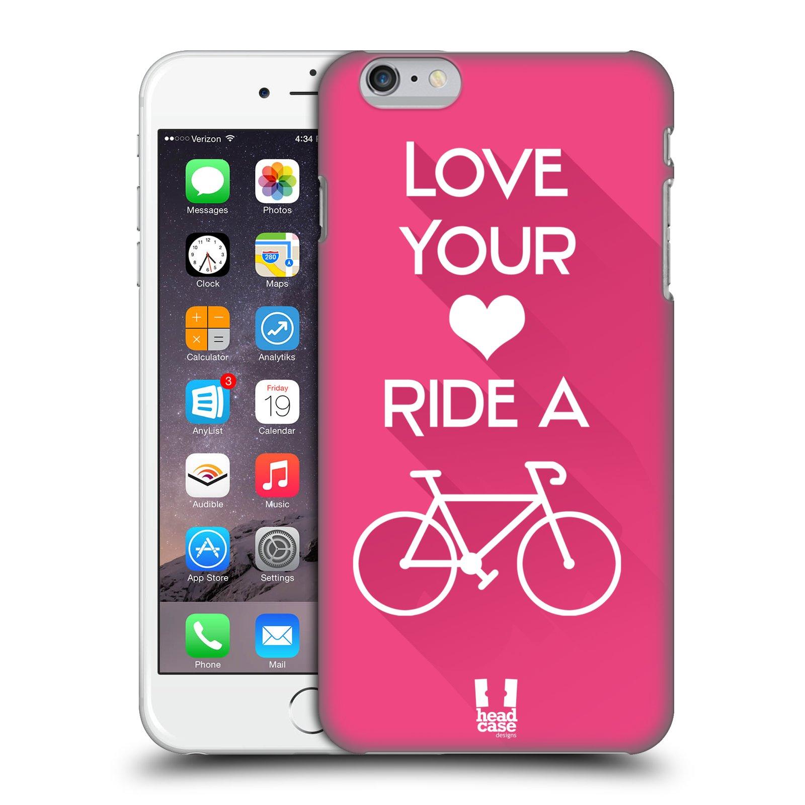 Plastové pouzdro pro mobil Apple Iphone 6 PLUS / 6S PLUS Cyklista růžové pozadí kolo sport
