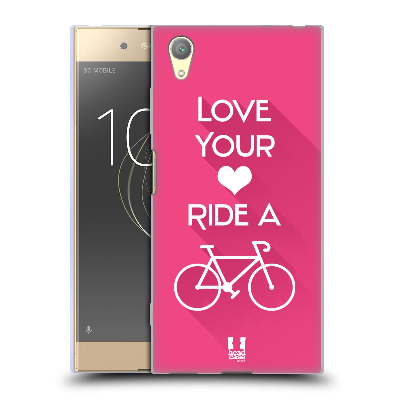 HEAD CASE silikonový obal na mobil Sony Xperia XA1 PLUS Cyklista růžové pozadí kolo sport