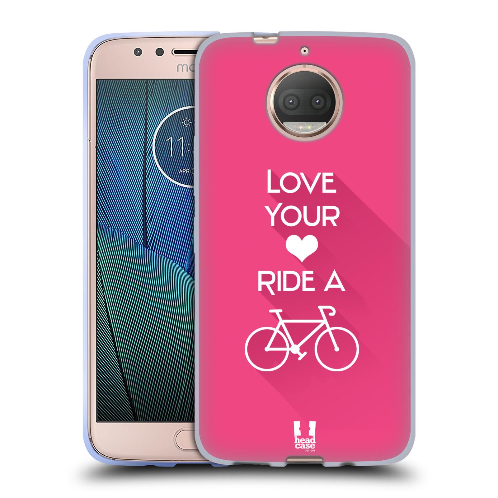 HEAD CASE silikonový obal na mobil Lenovo Moto G5s PLUS Cyklista růžové pozadí kolo sport