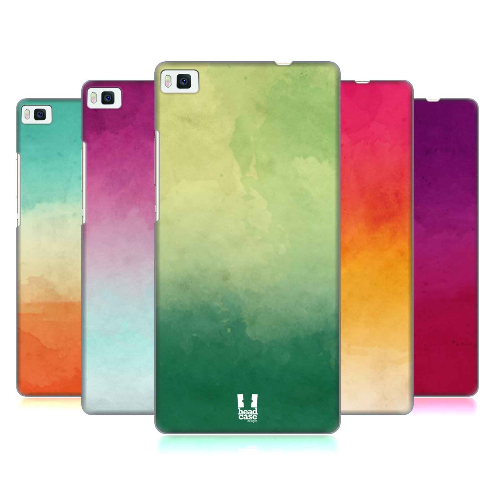 HEAD CASE DESIGNS AQUARELL OMBRE HARD BACK COVER FÜR HUAWEI HANDYS 1