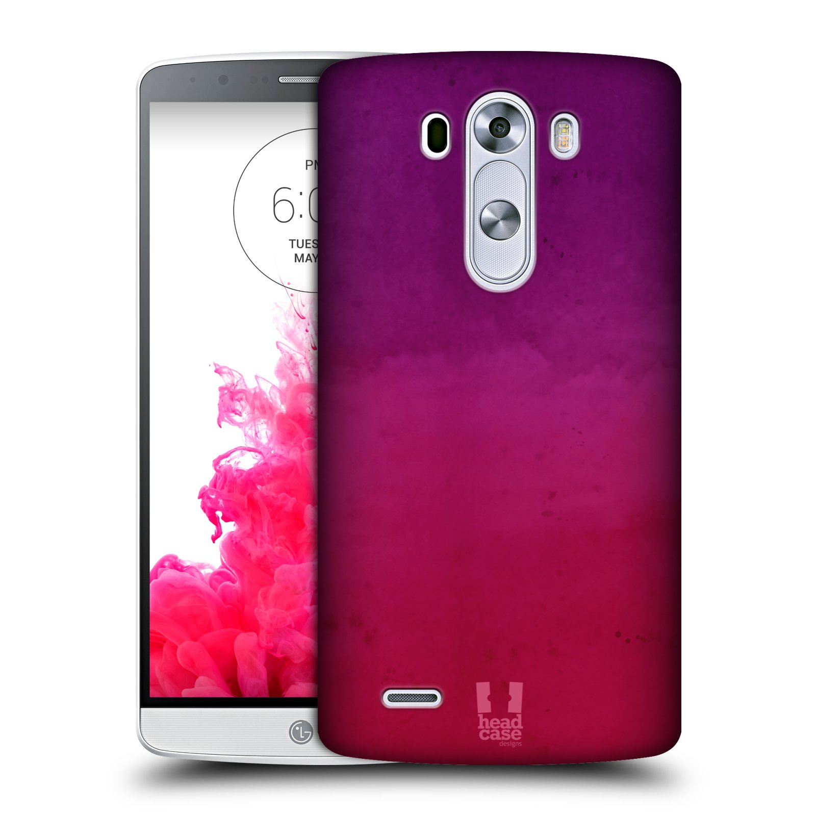 HEAD CASE DESIGNS WATERCOLOURED OMBRE HARD BACK CASE FOR LG PHONES 1