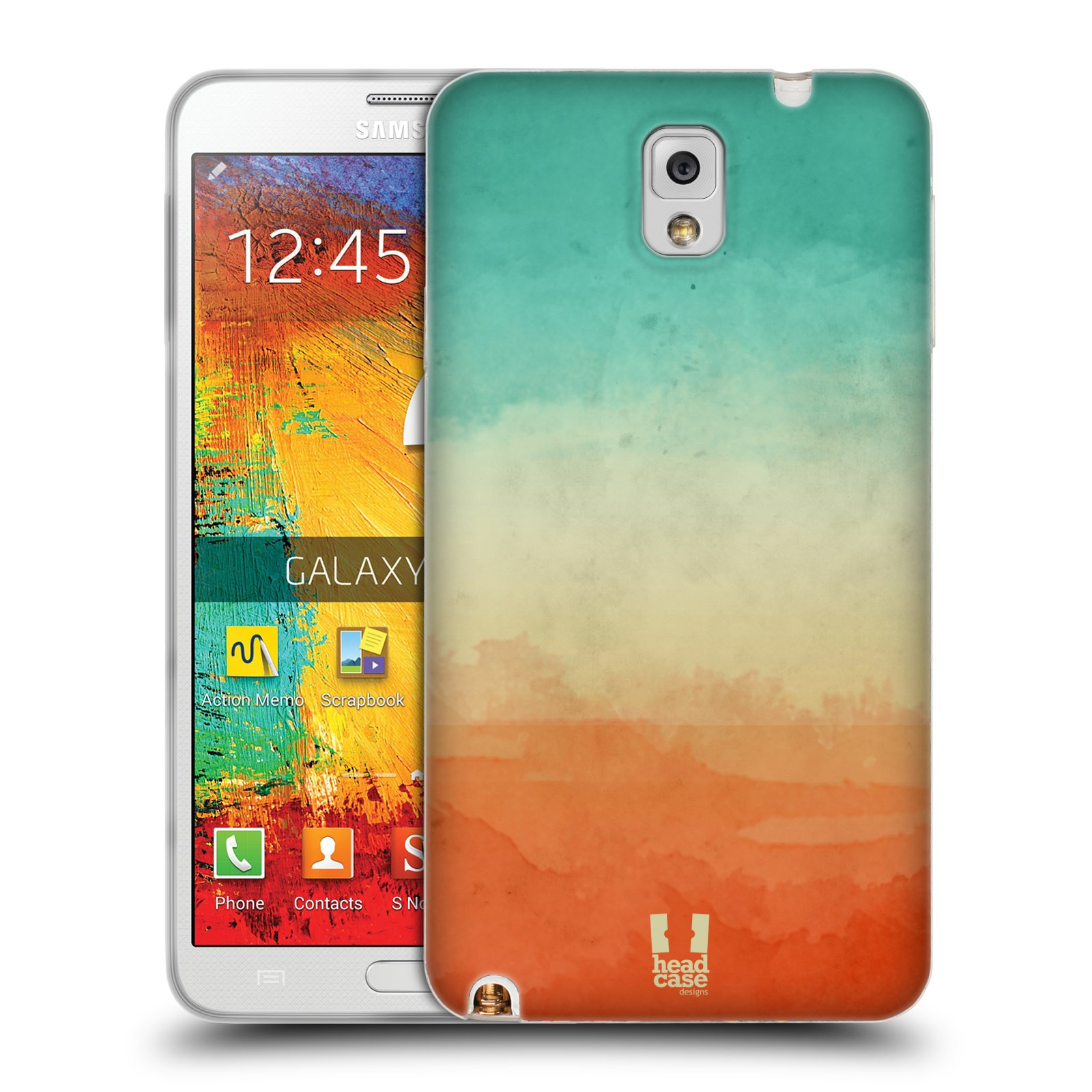 HEAD CASE WATERCOLOURED OMBRE TPU GEL BACK CASE FOR SAMSUNG GALAXY NOTE 3 N9005