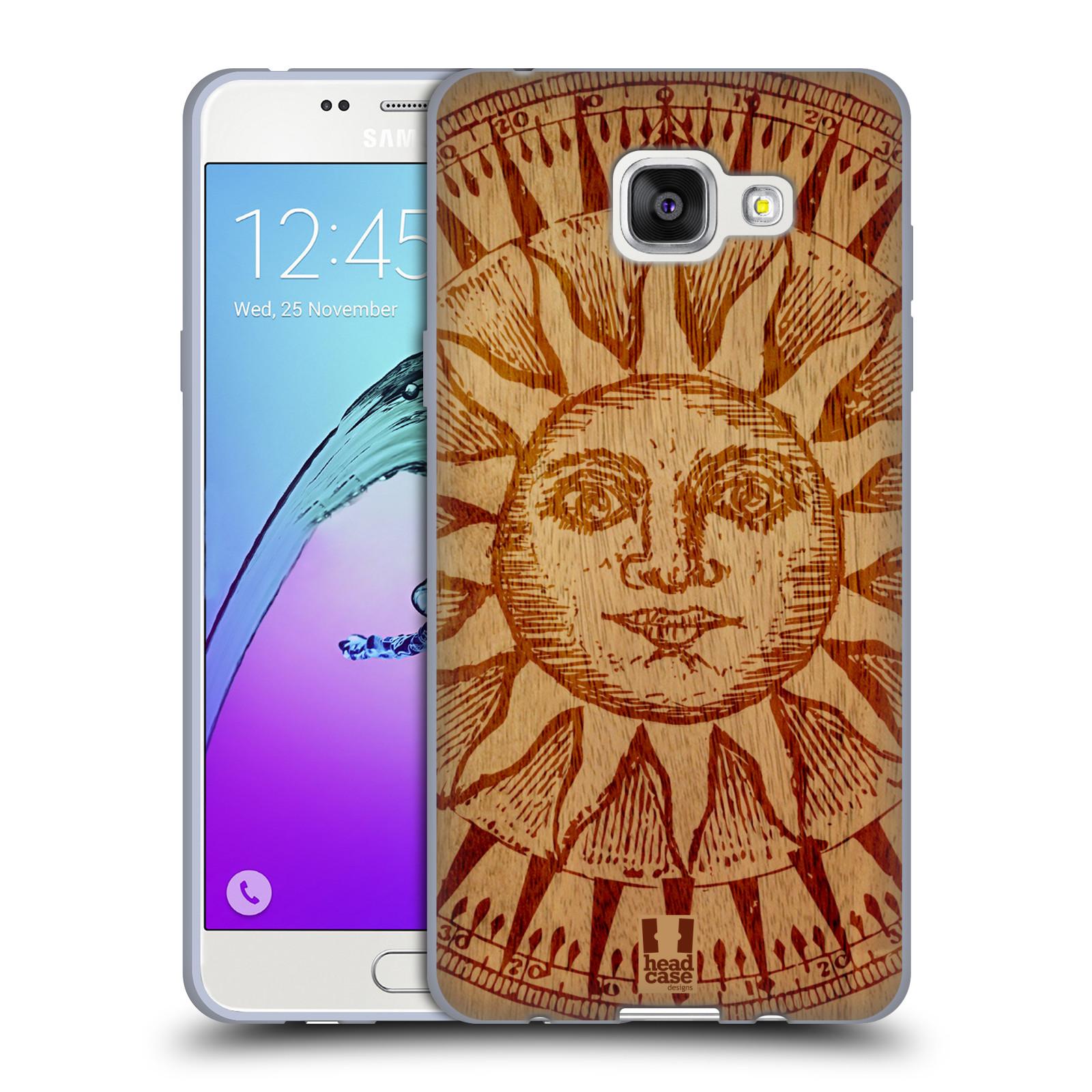 HEAD CASE silikonový obal na mobil Samsung Galaxy A5 (2016) vzor Dřevěné umění SLUNCE