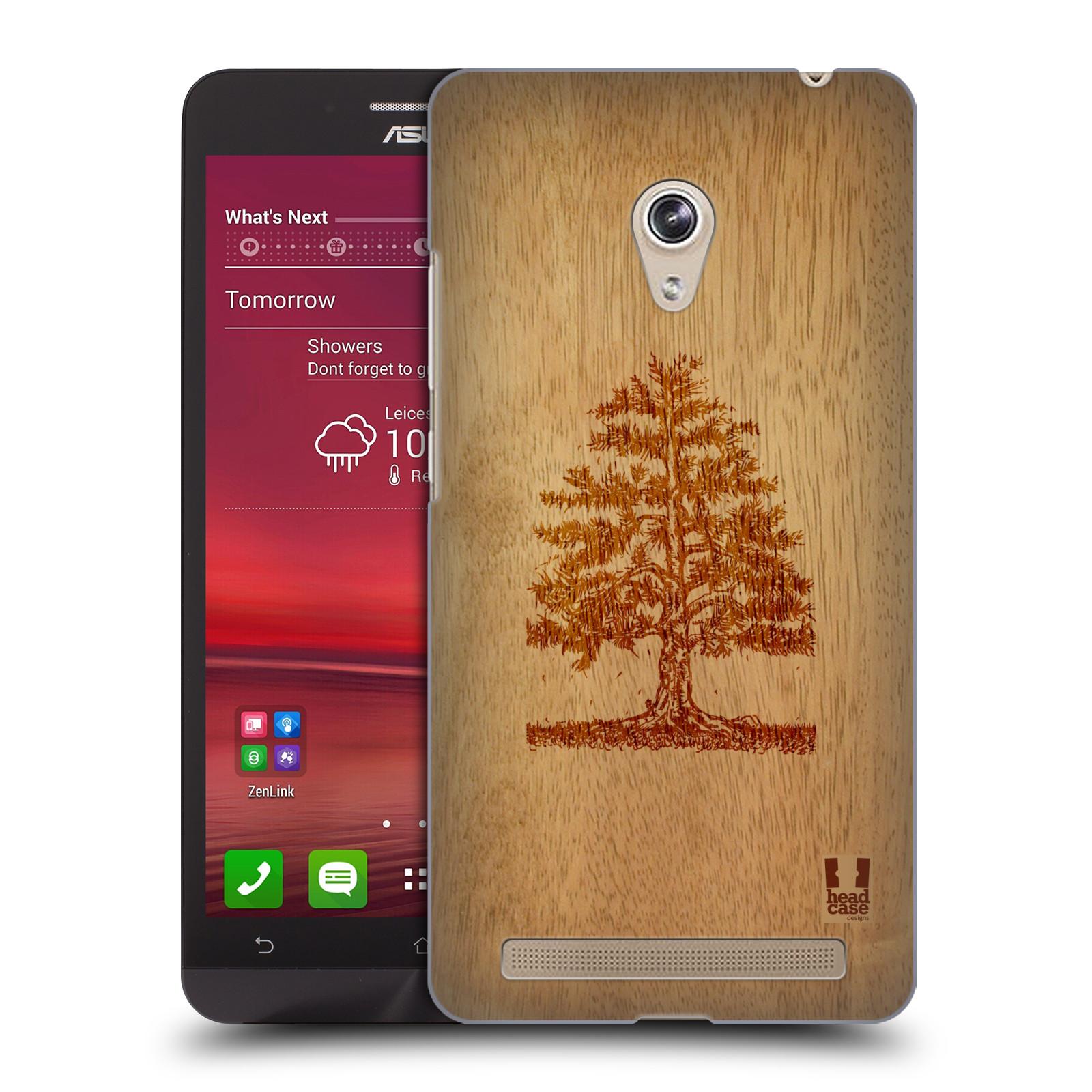 HEAD CASE plastový obal na mobil Asus Zenfone 6 vzor Dřevěné umění STROM