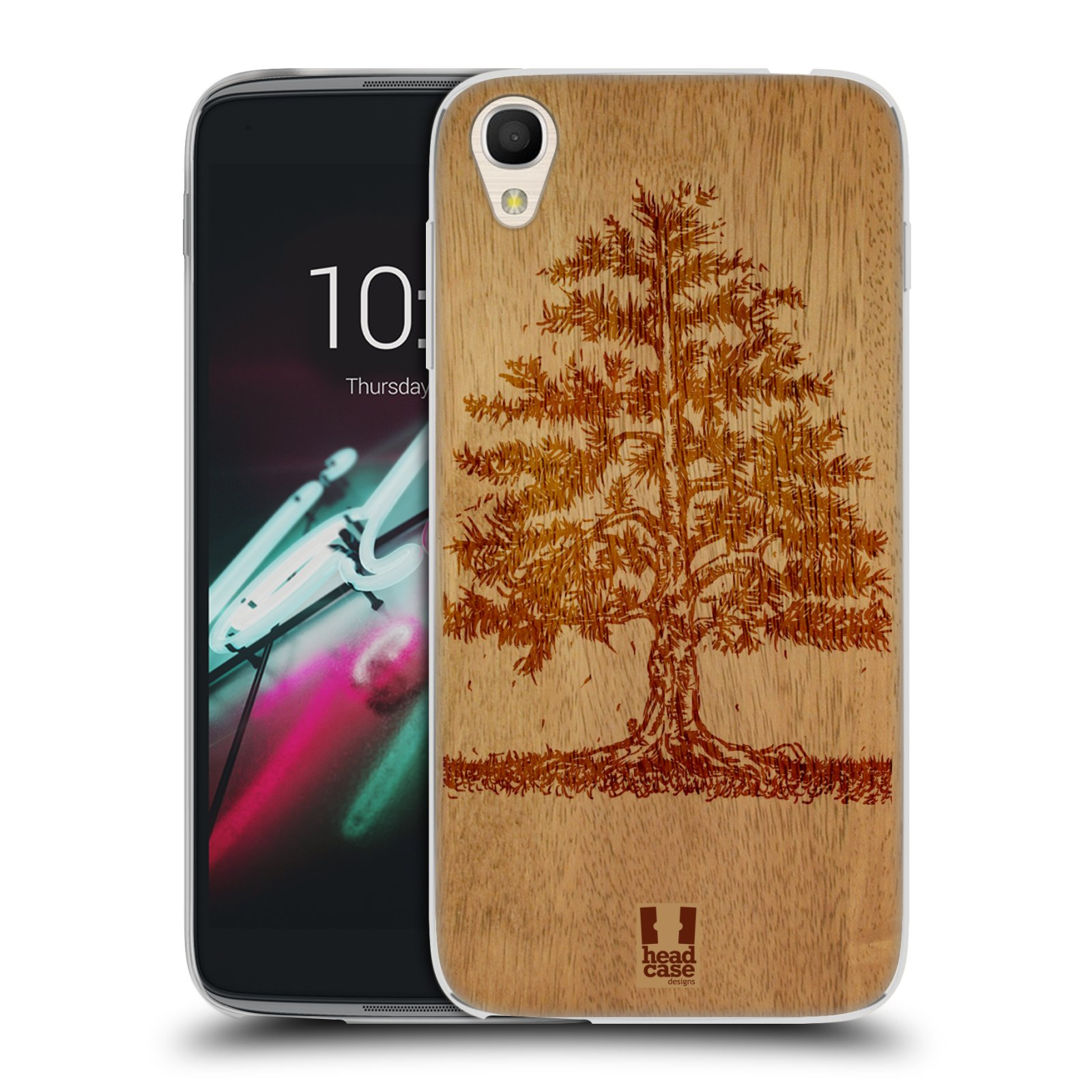 HEAD CASE silikonový obal na mobil Alcatel Idol 3 OT-6039Y (4.7) vzor Dřevěné umění STROM