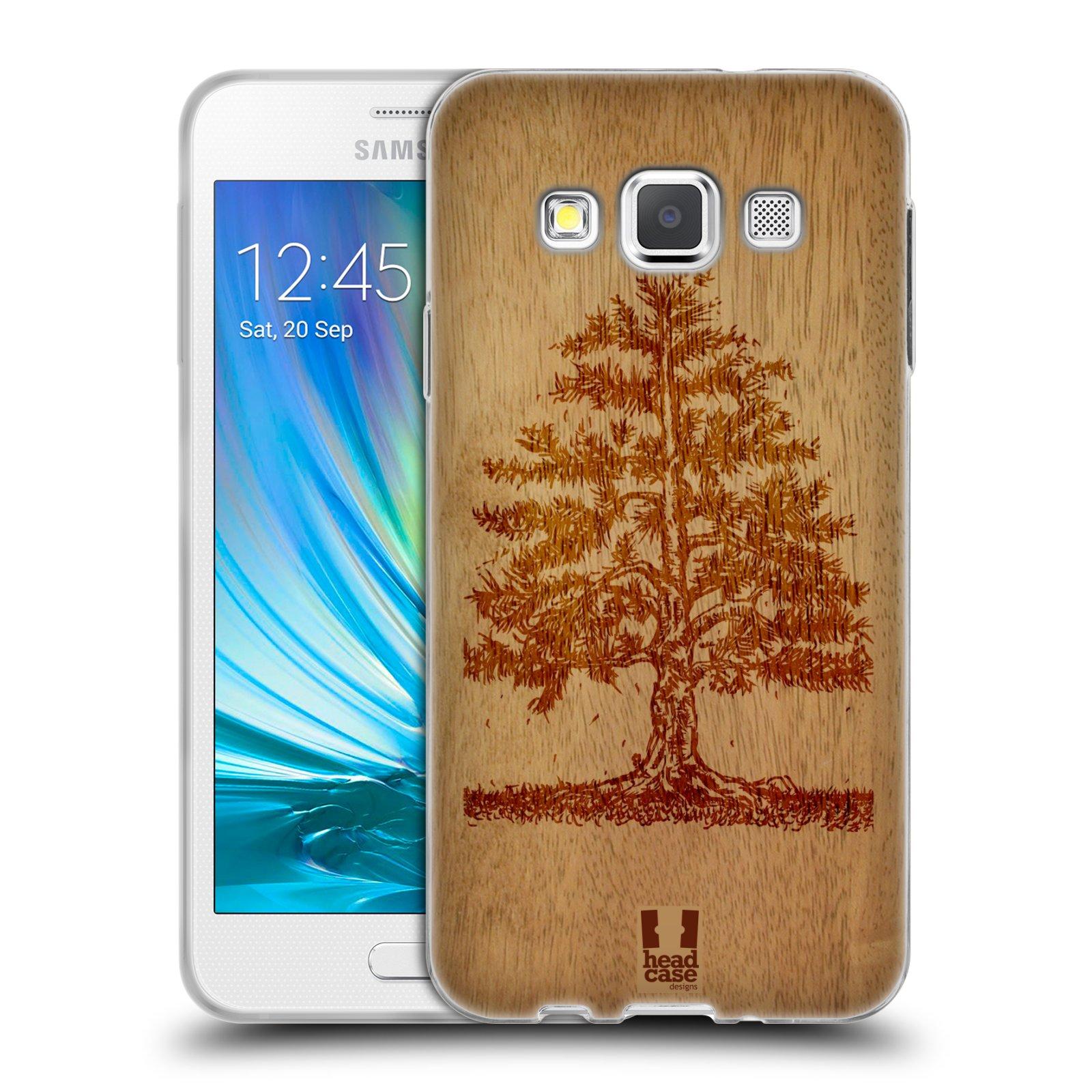 HEAD CASE silikonový obal na mobil Samsung Galaxy A3 vzor Dřevěné umění STROM