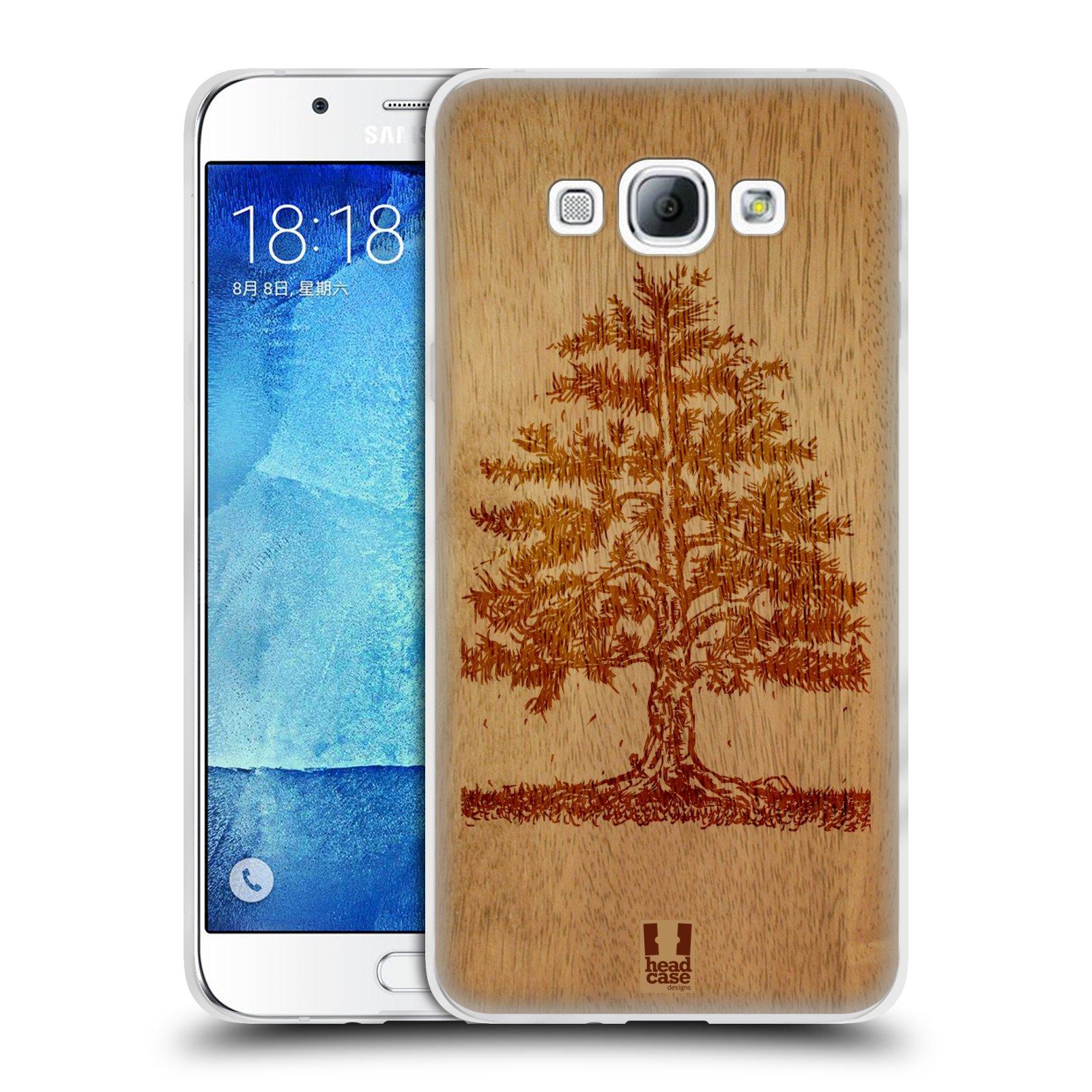 HEAD CASE silikonový obal na mobil Samsung Galaxy A8 vzor Dřevěné umění STROM