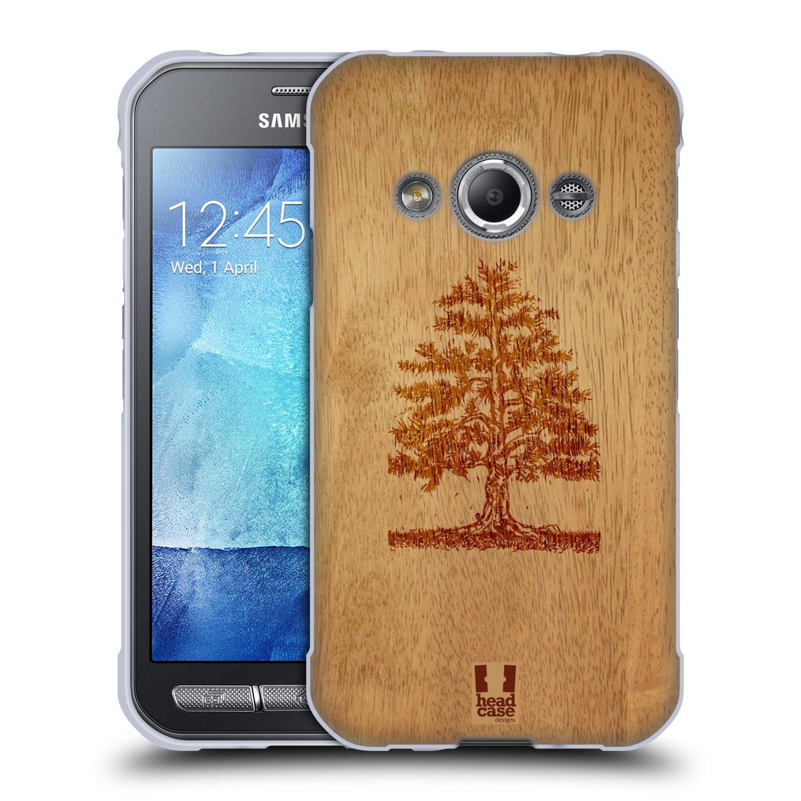 HEAD CASE silikonový obal na mobil Samsung Galaxy Xcover 3 vzor Dřevěné umění STROM